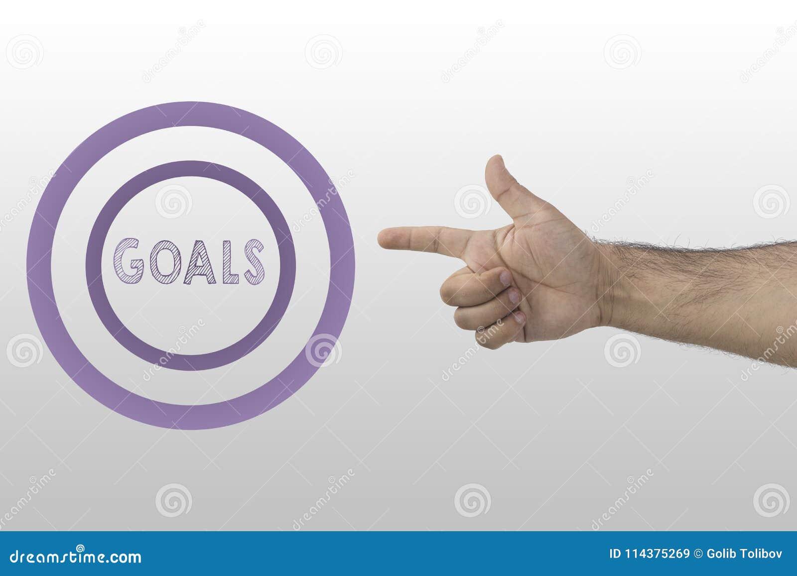 成功和成就 商人射击文本的` s手入圈子:目标