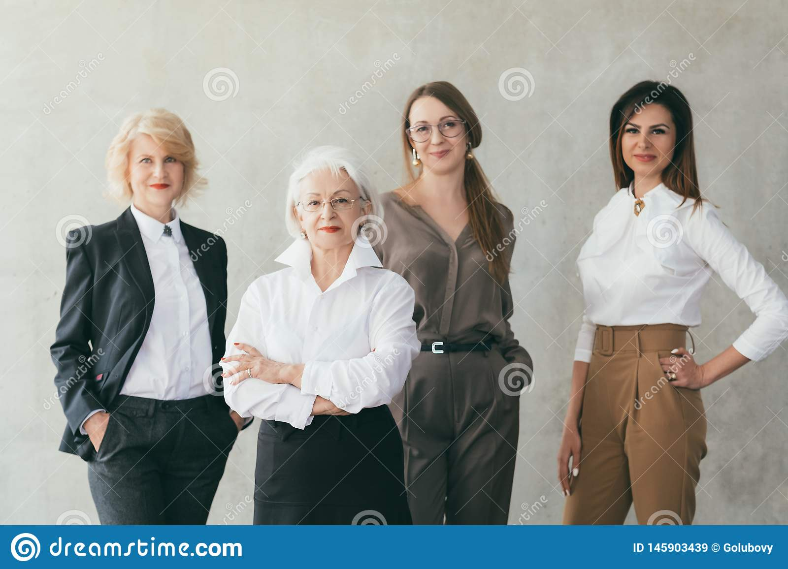 成功的女商人教育的女性领导