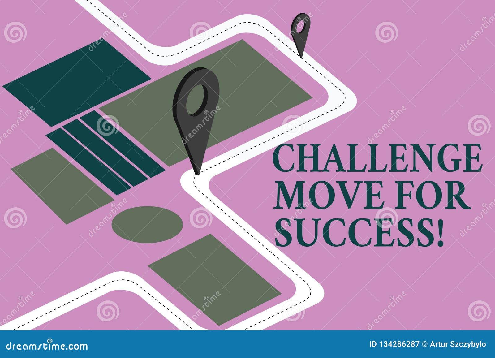 成功的概念性手文字陈列挑战移动 陈列专业运动战略的企业照片