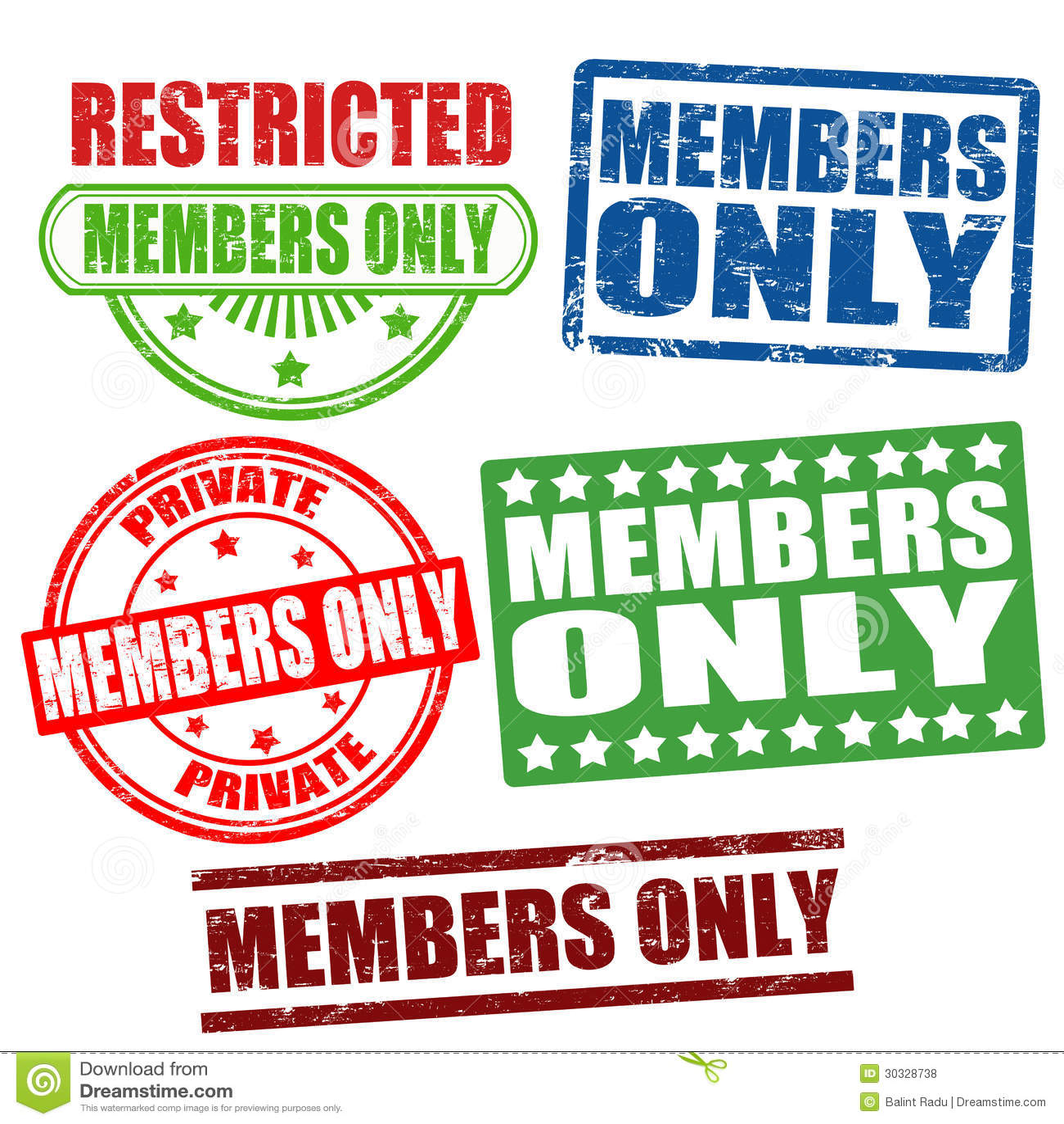 仅成员邮票