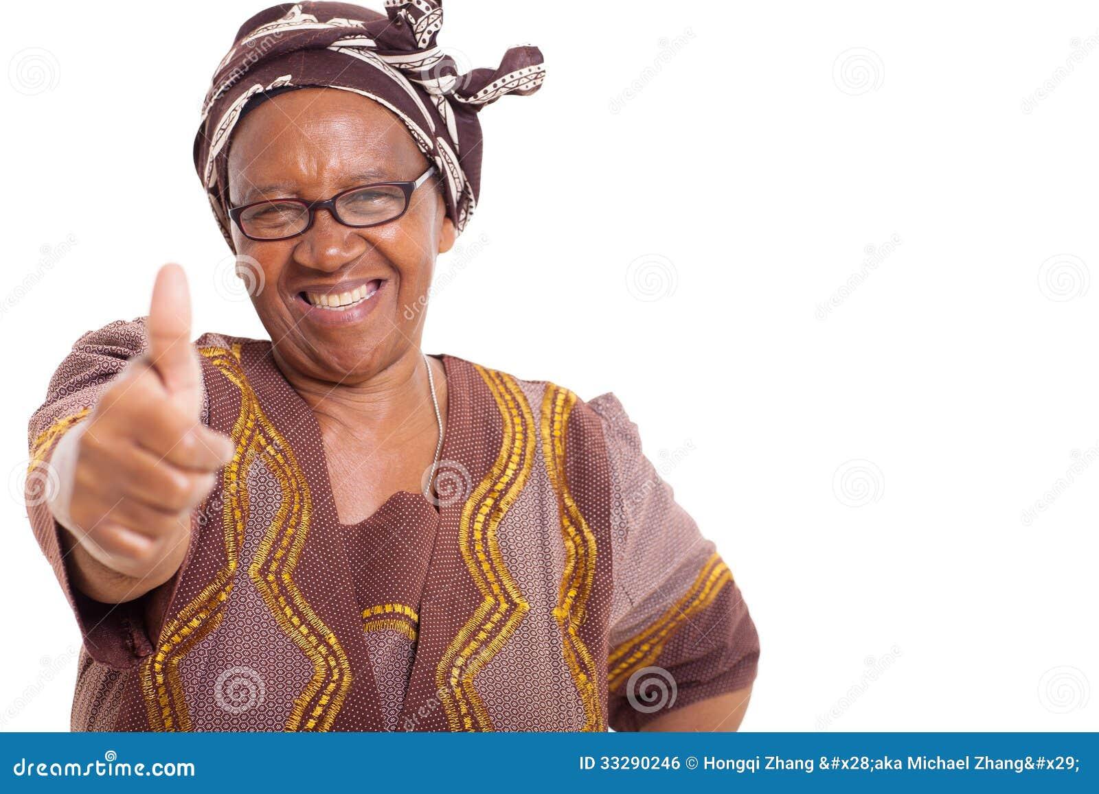 成熟非洲妇女