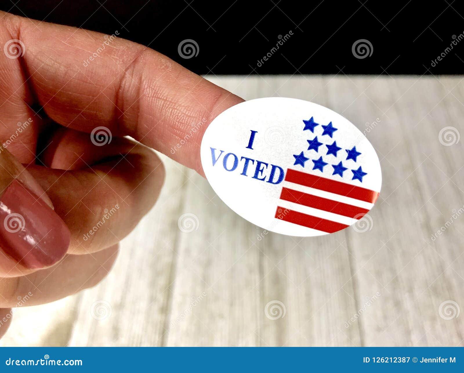 我投票了贴纸