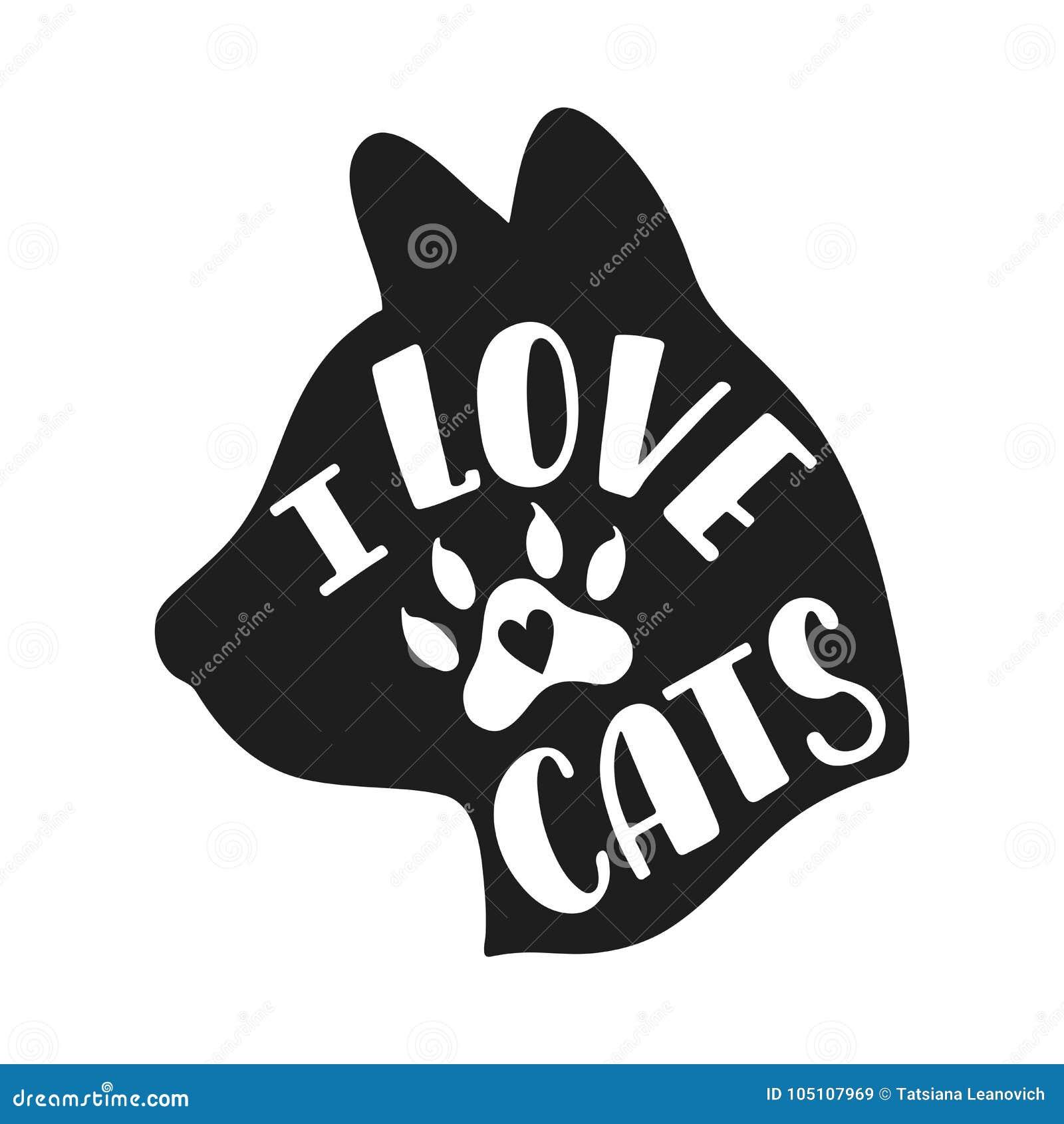 我爱的猫 关于猫的手写的激动人心的行情