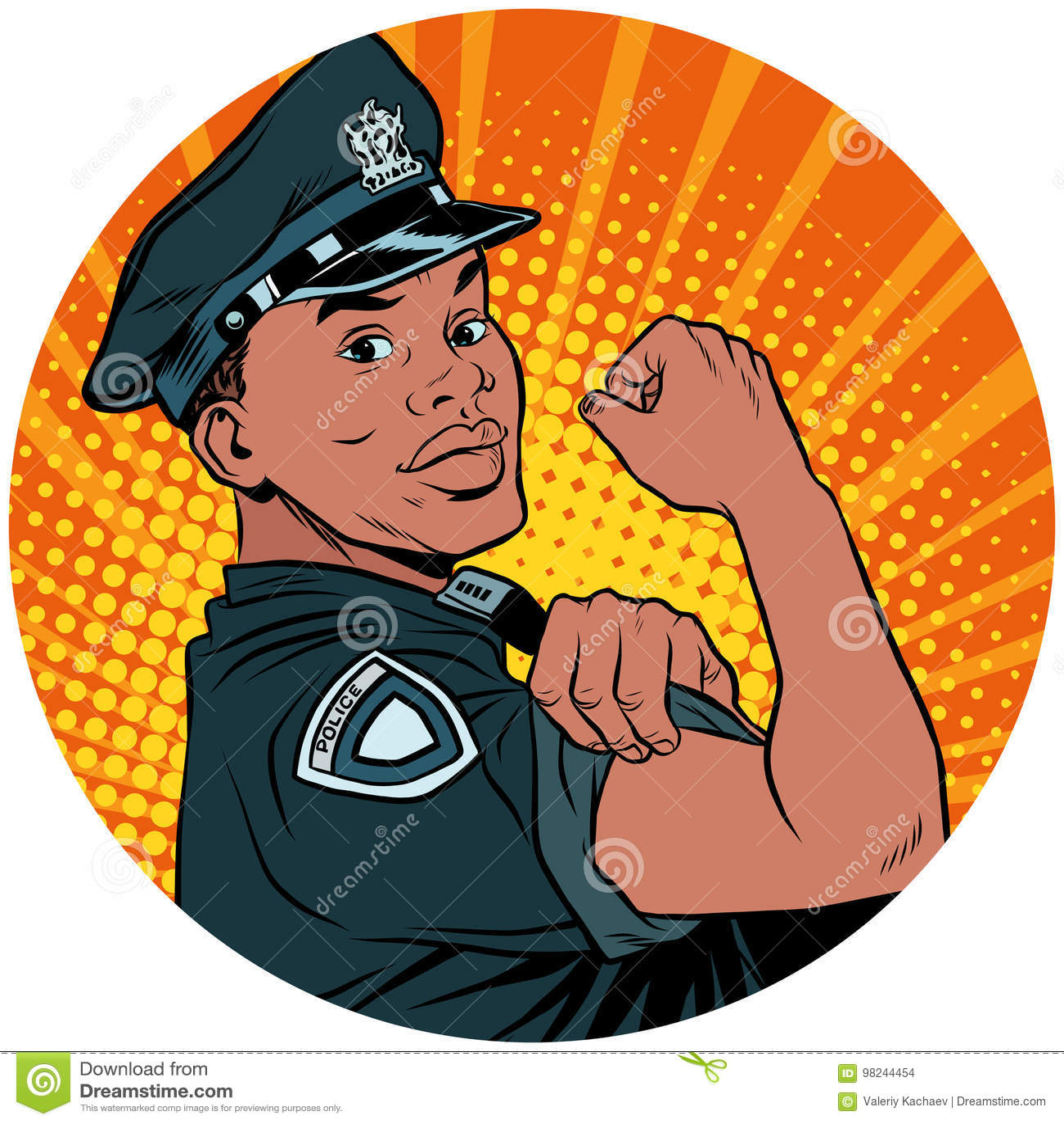 我们可以做它黑人警察非裔美国人的流行艺术具体化cha