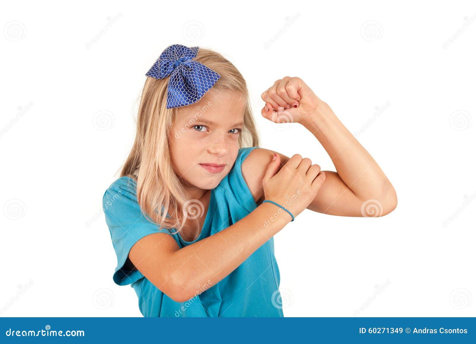 我们可以做它-小女孩仿效著名海报