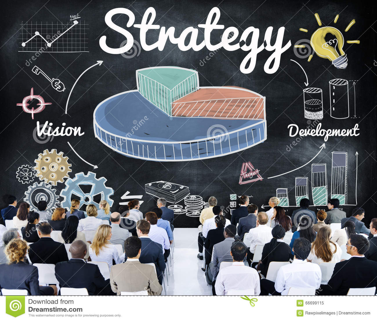 战略企业图视觉发展概念