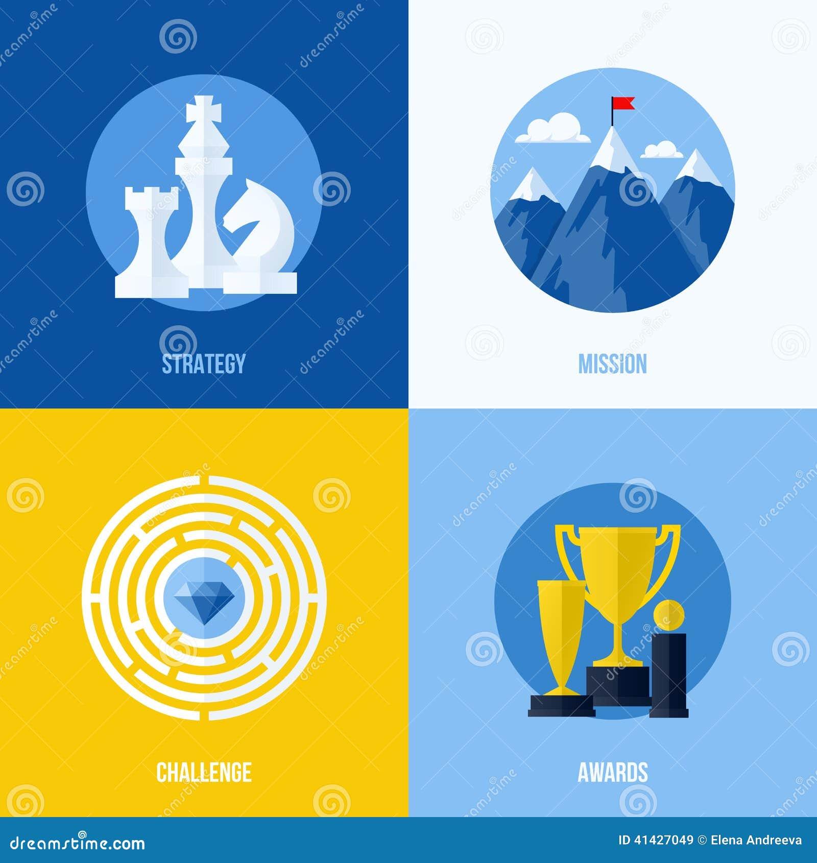 战略的,使命,挑战,奖概念