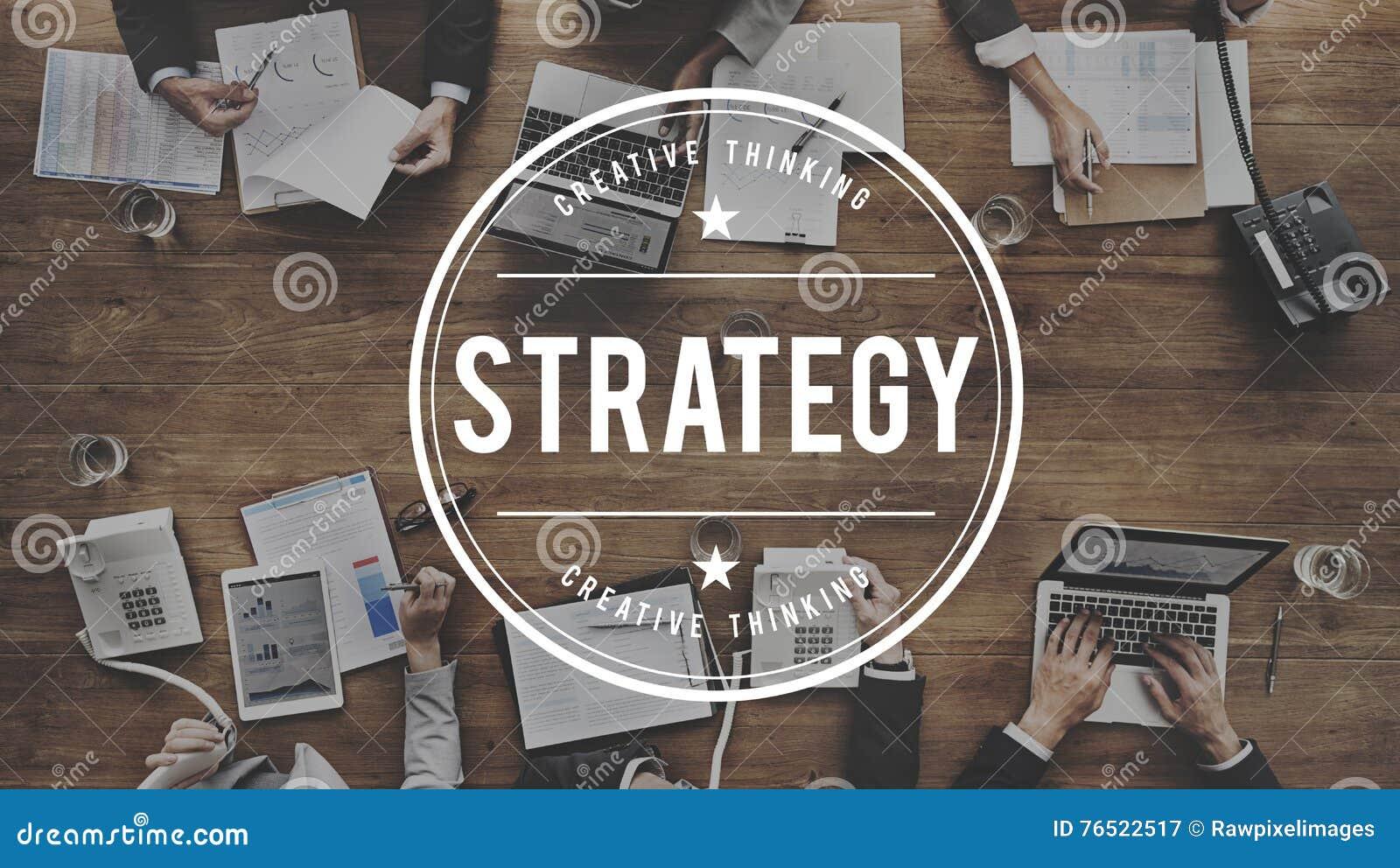 战略解答计划企业成功目标概念