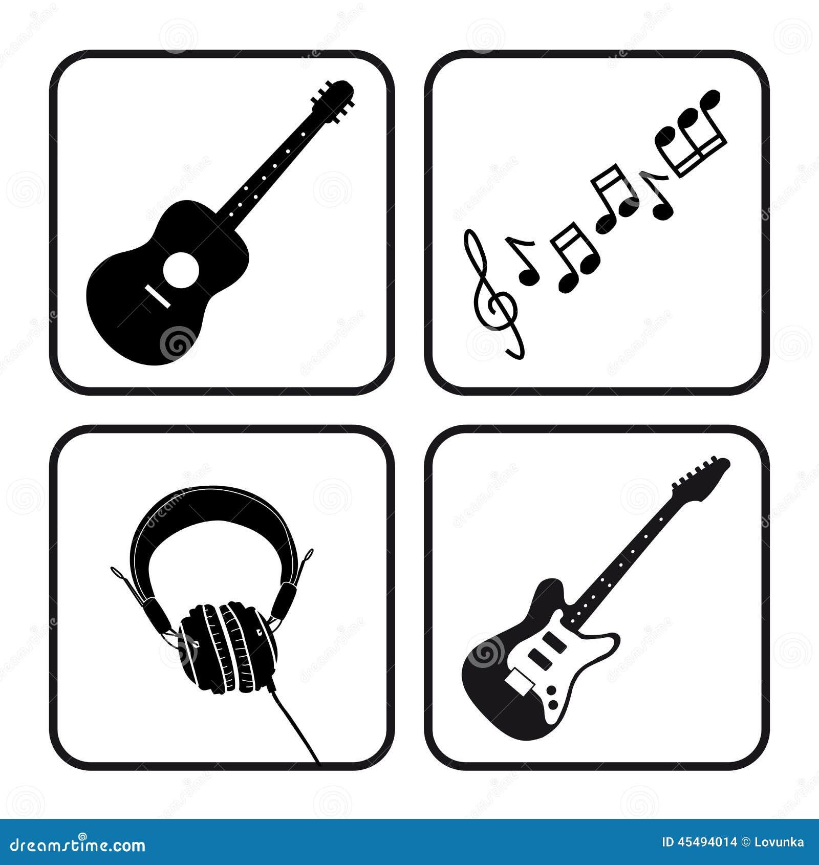 截去的数字式图标例证包括的音乐路径抓