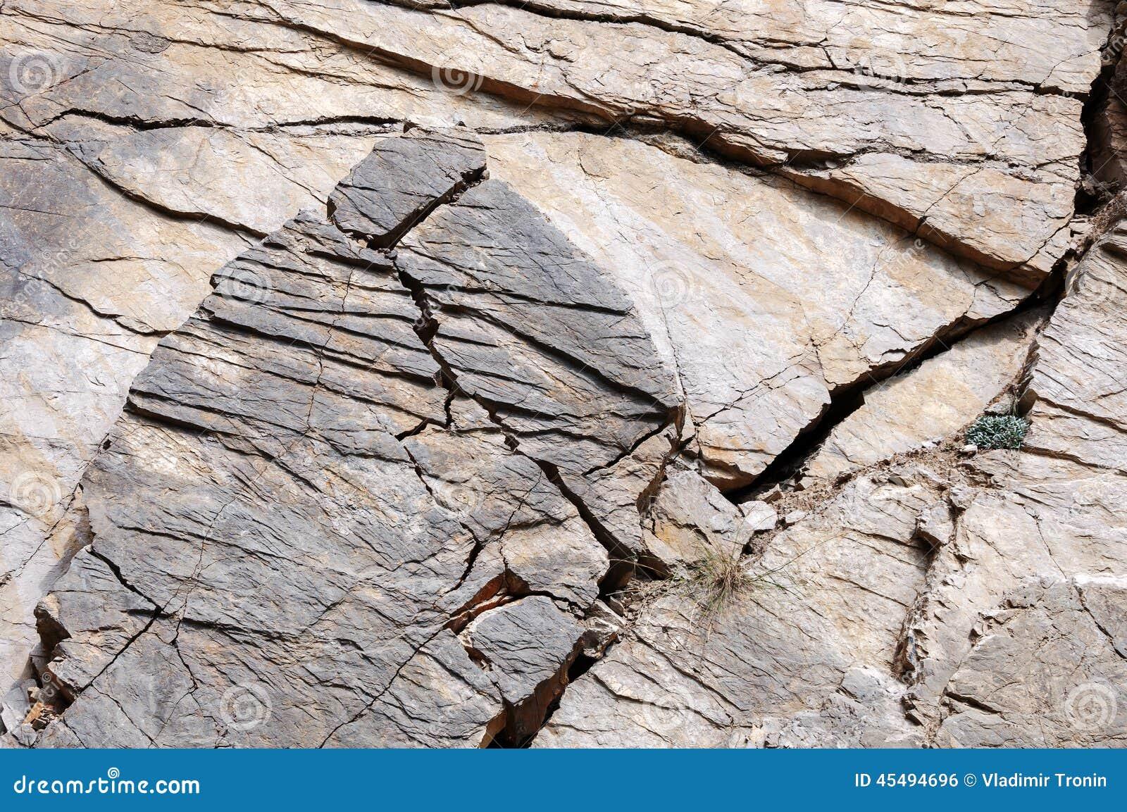 户外油母页岩作为背景