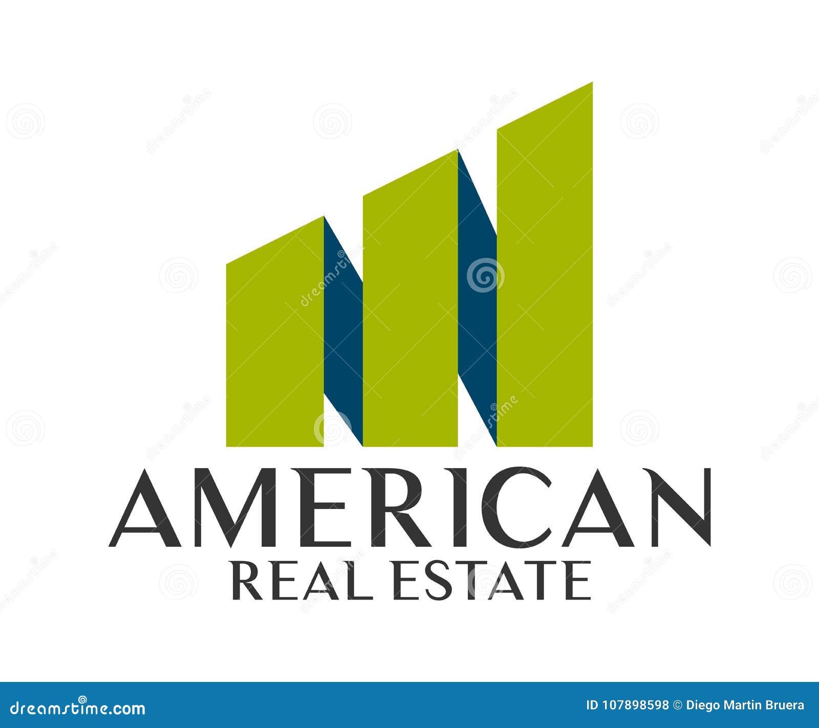 房地产、大厦、建筑和建筑学商标传染媒介设计