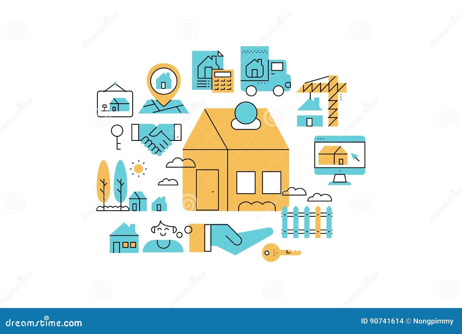 房地产线象例证