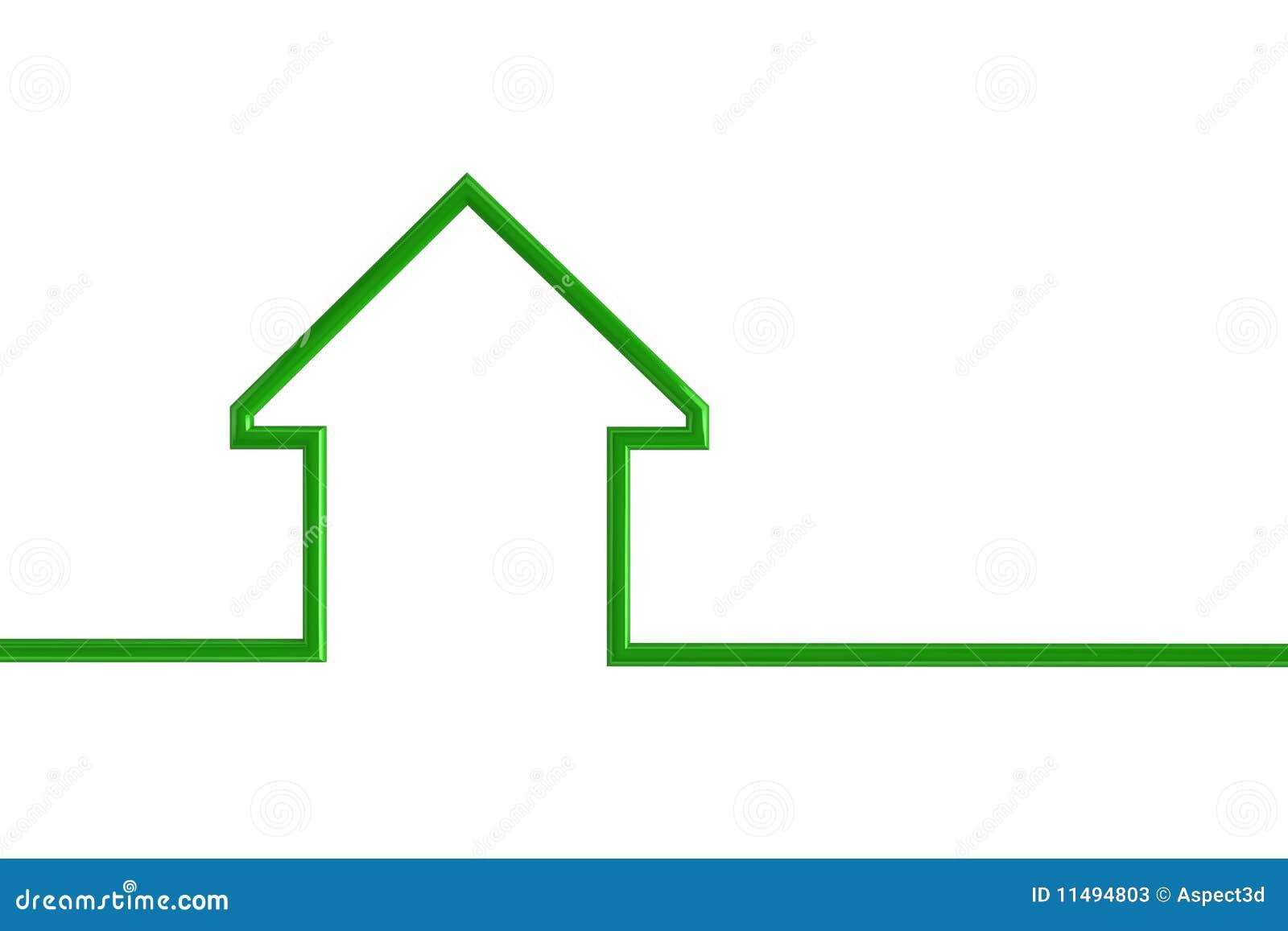 房子例证分级显示
