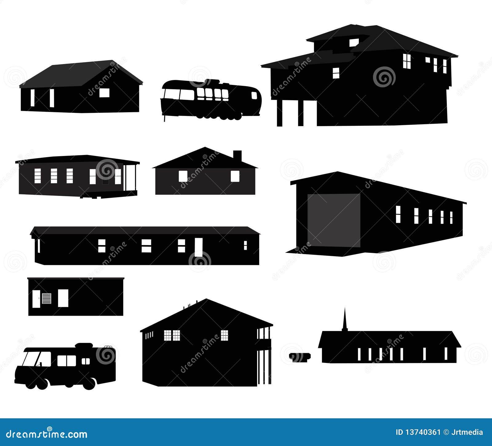 房子剪影 库存图片 图片 13740361