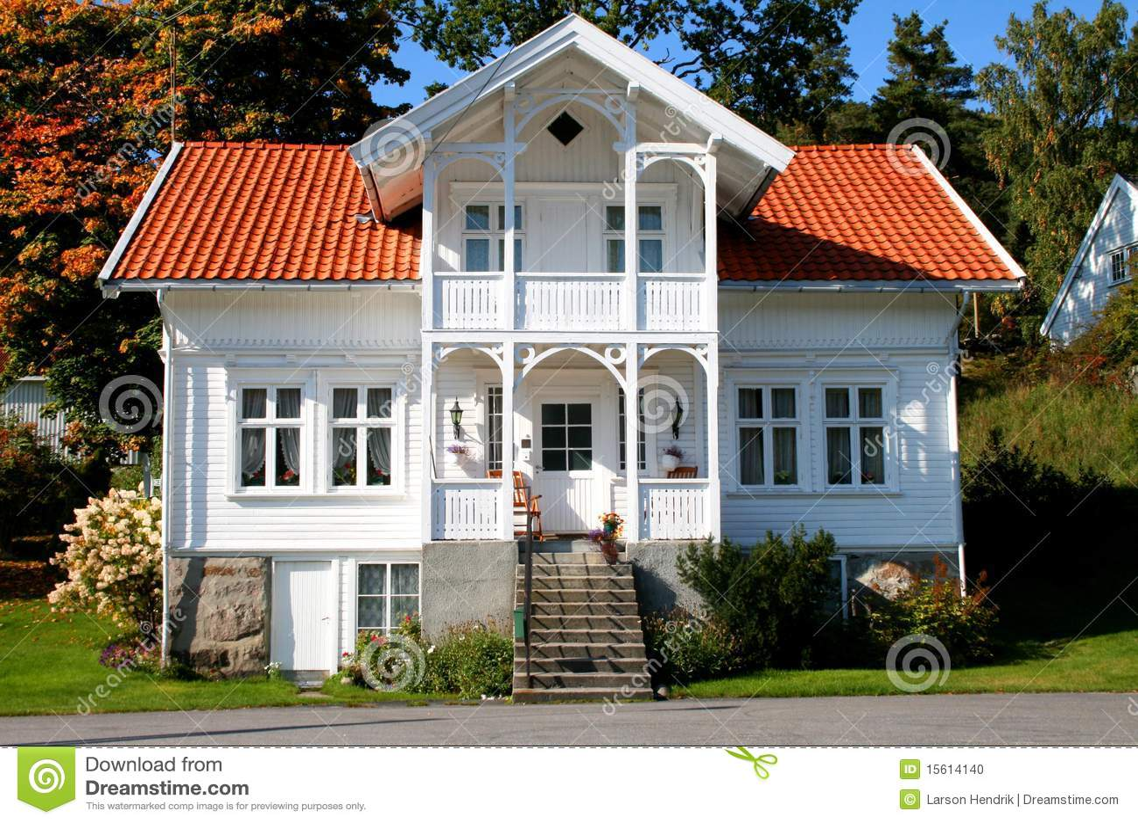 房子挪威白色.