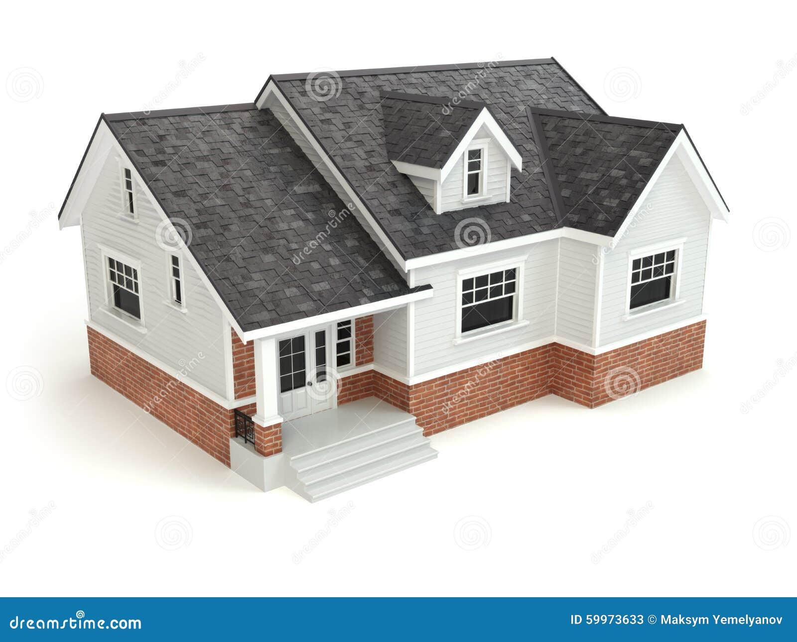 房子查出的白色 实际概念的庄园