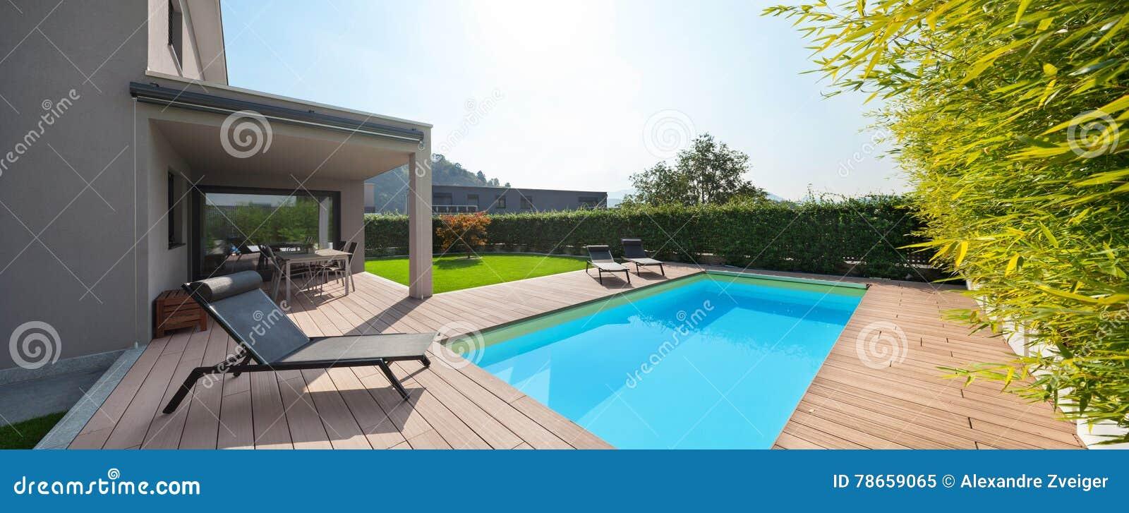 房子现代池