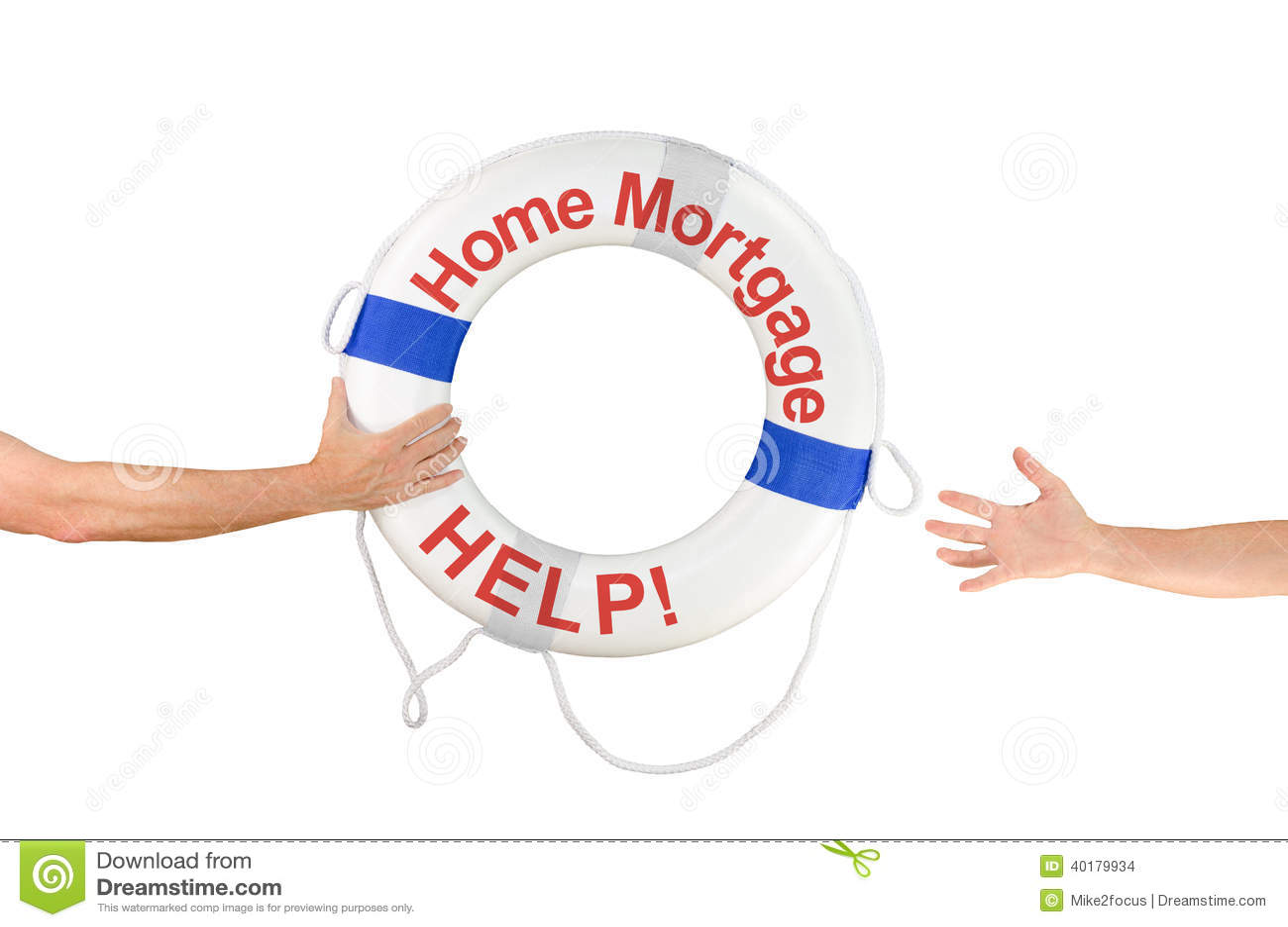 房屋贷款财务帮助救生圈圆环