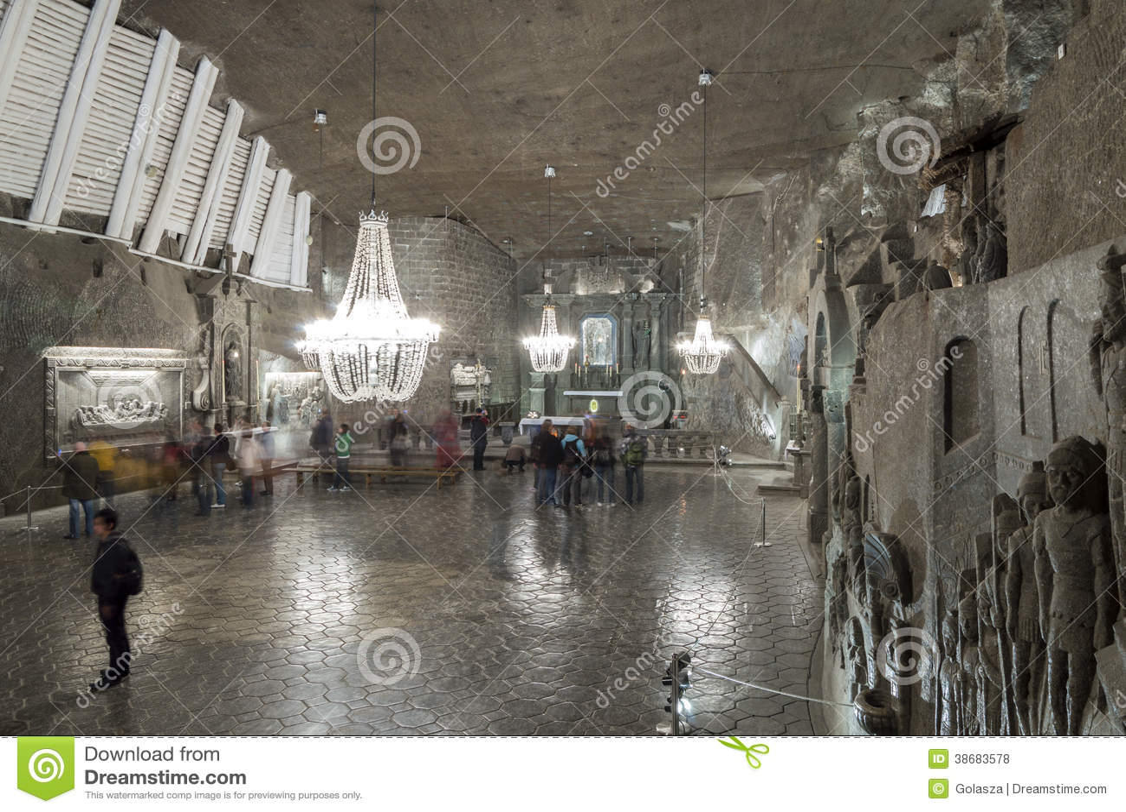 房间在盐矿在维利奇卡,波兰