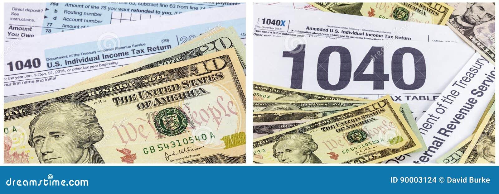 所得税1040形式现金金钱