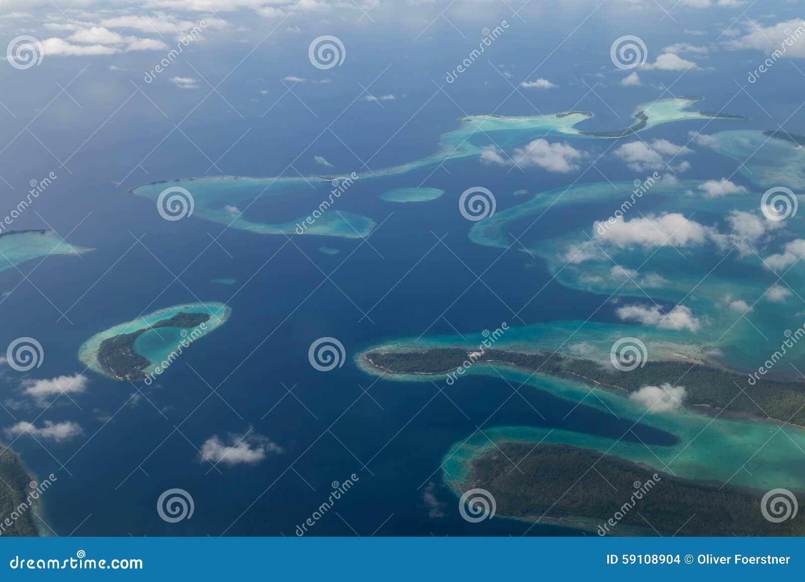 所罗门群岛鸟瞰图