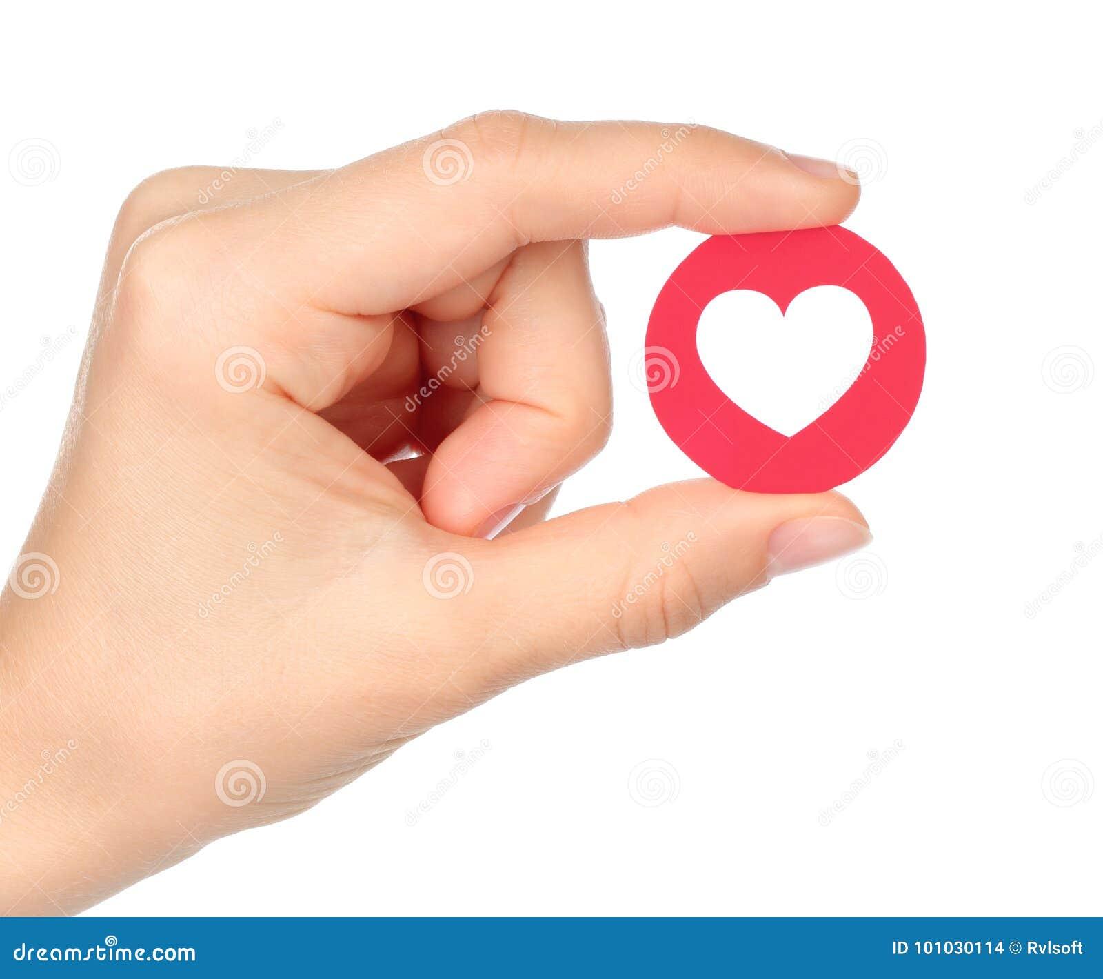 手举行Facebook爱移情作用的Emoji反应