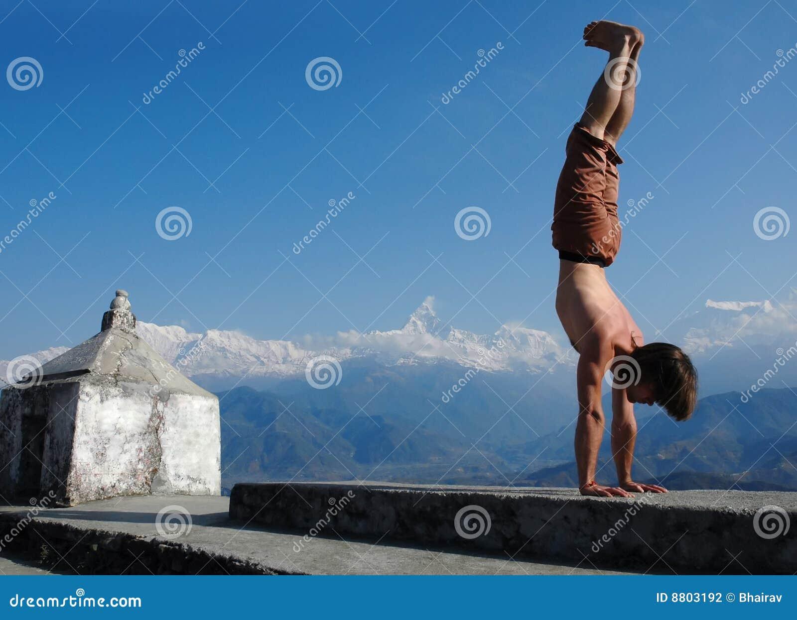 手倒立himalays瑜伽