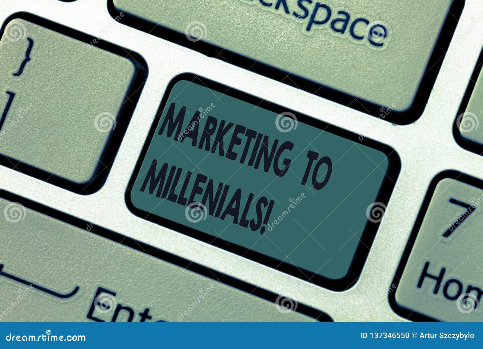 手写对Millenials的文本营销 概念意思是精明社会上被连接的互联网并且停留流动键盘