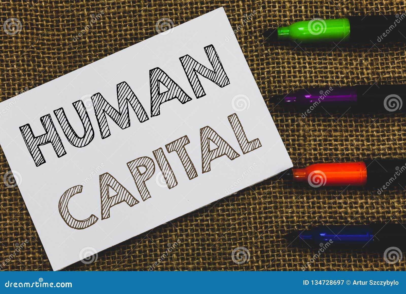 手写文本人力资本 概念意思无形资产集体资源能力资本教育白皮书