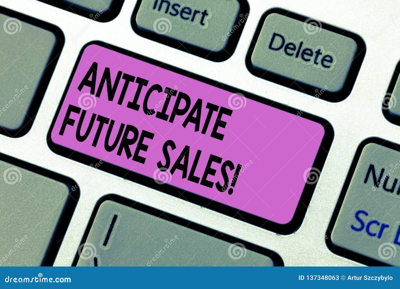 手写文本写期望未来销售 重视有利和风险的概念意思一种投资