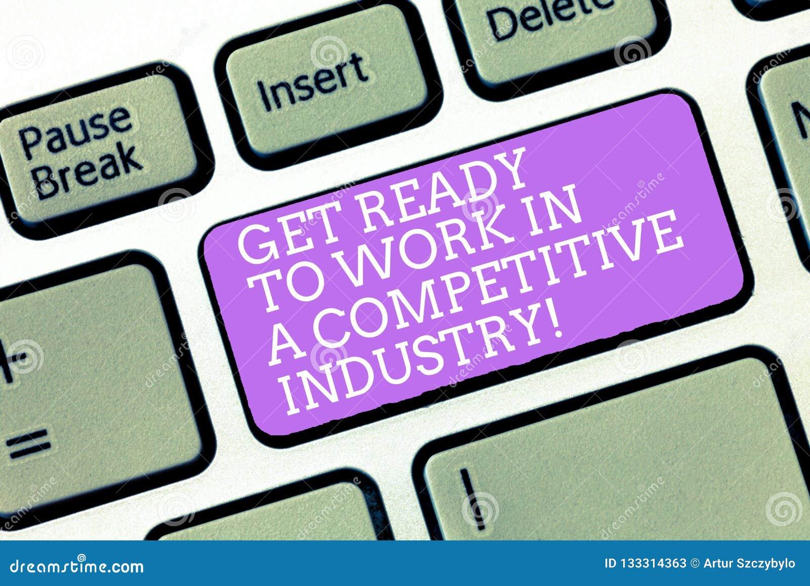 手写文本在竞争产业准备好工作 概念意思在伟大其他中开发键盘键