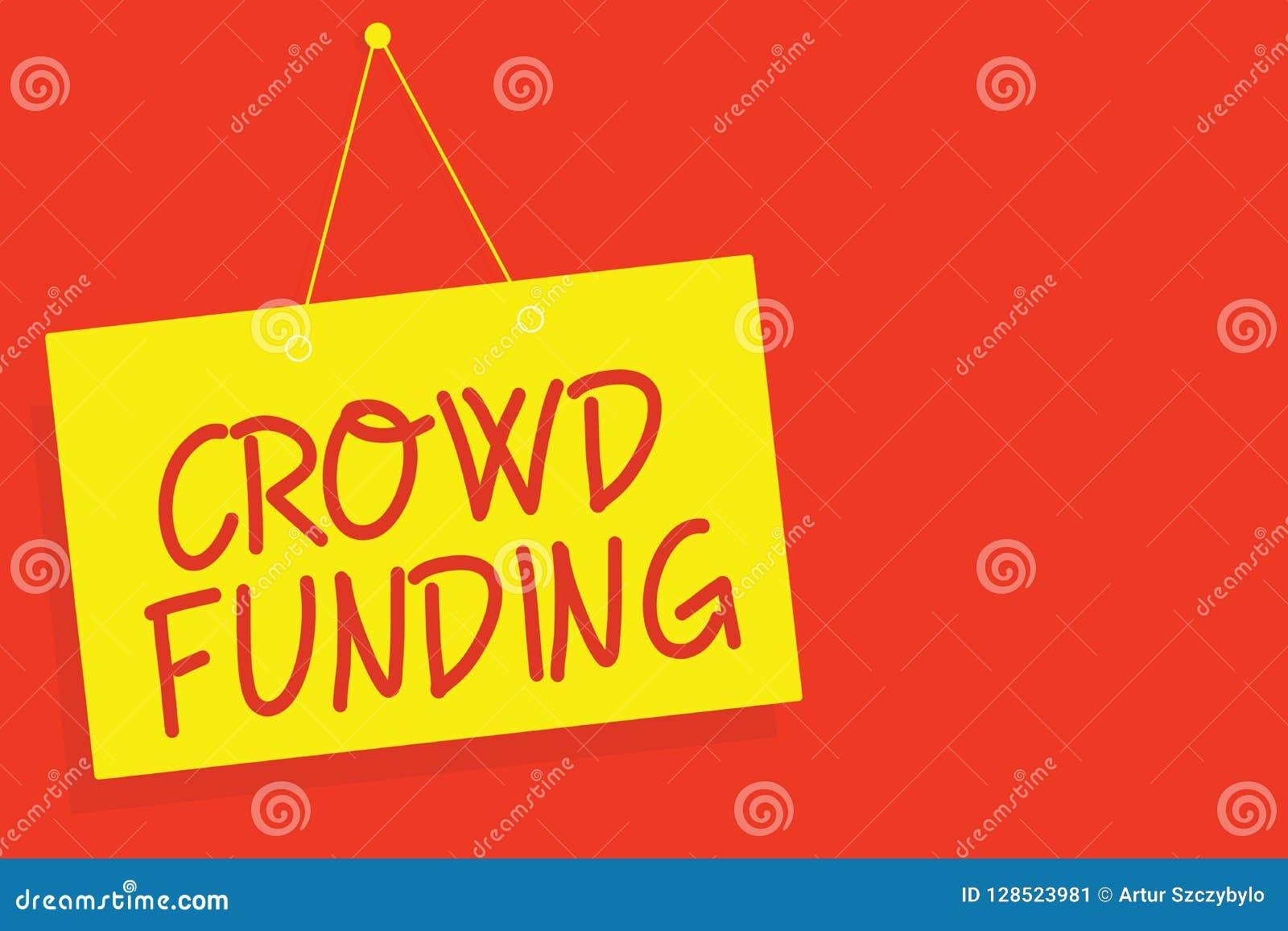 手写文本文字人群资助 概念意思筹款的Kickstarter起始的承诺平台捐赠染黄