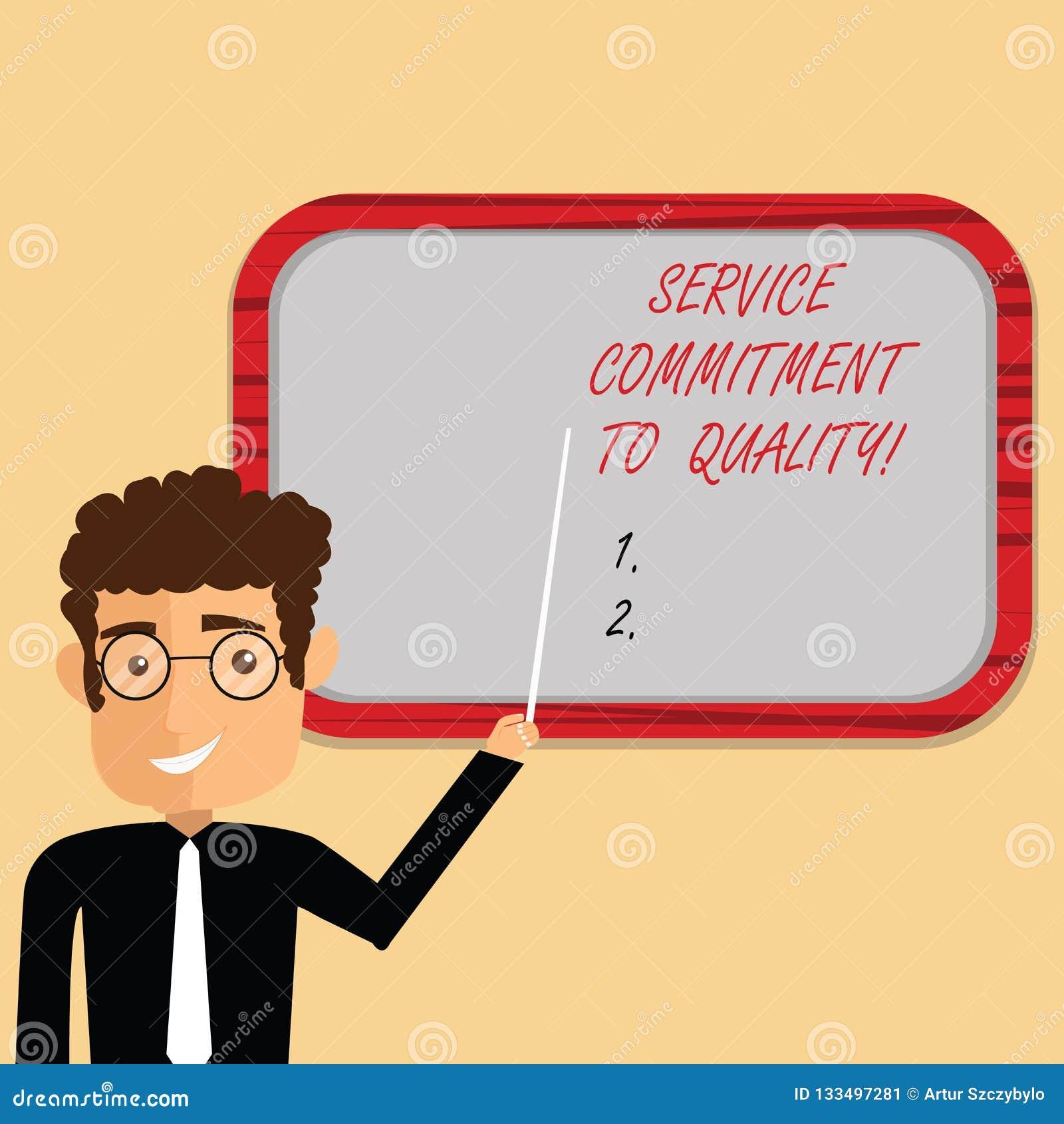 手写文本文字对质量的服务承诺 概念意思优秀优质好协助人
