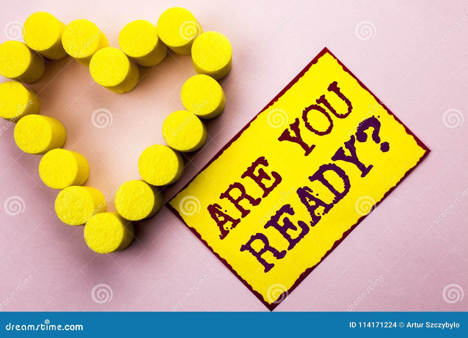 手写文本文字是您准备问题 在黄色St知道准备的有动机被警告的准备写的概念意思