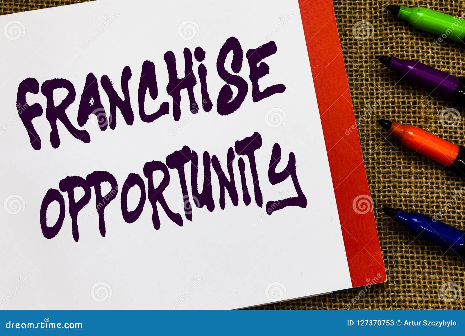 手写文本特权机会 概念意思营业执照对开放经销商的加入的特权所有者