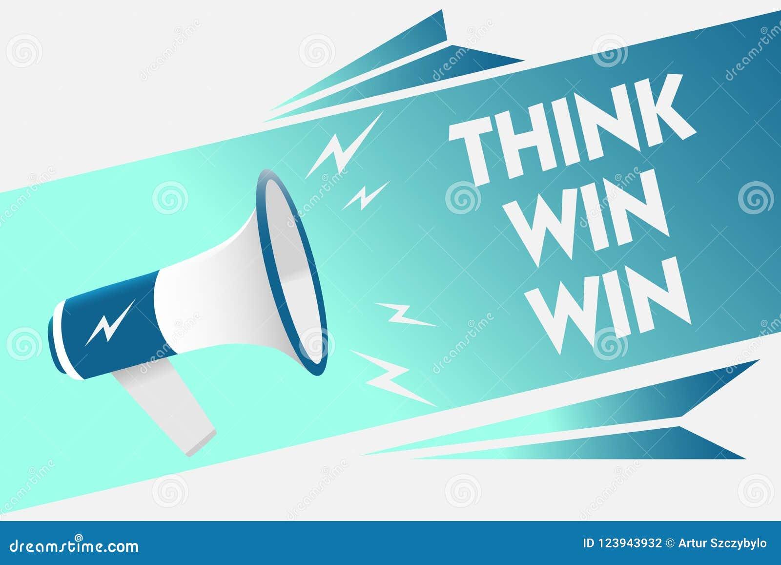 手写文本认为双赢 概念意思经营战略竞争挑战方式是成功扩音机扩音器sp