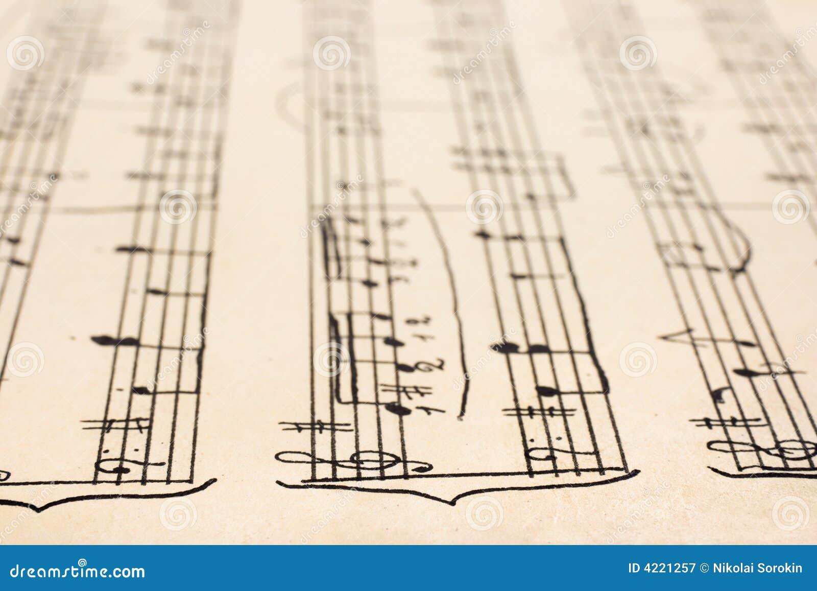 手写的音乐减速火箭的页