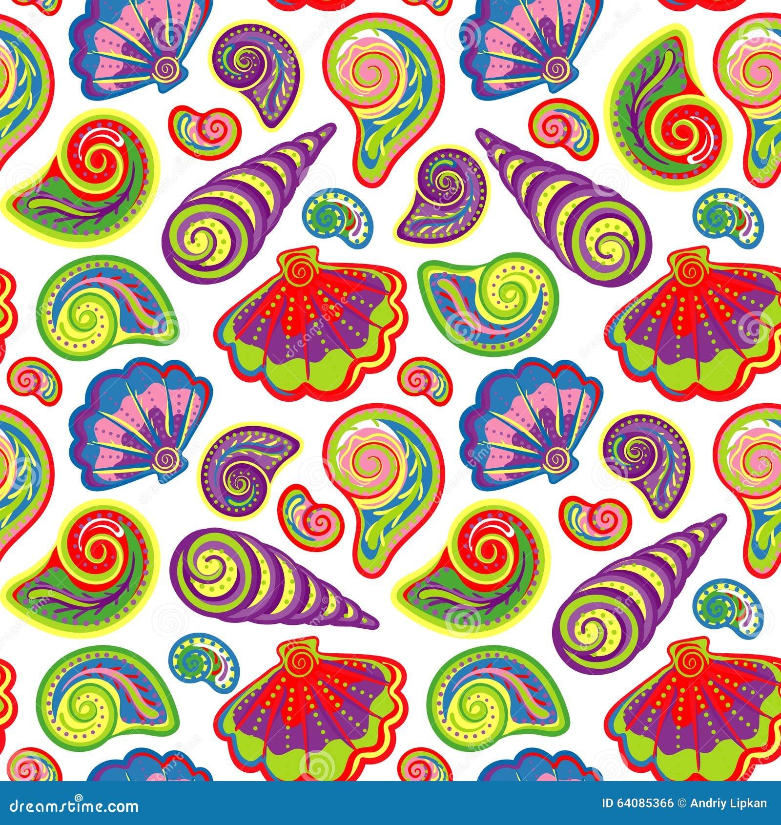 手凹道海轰击样式 与手画海洋生活对象的无缝的纹理