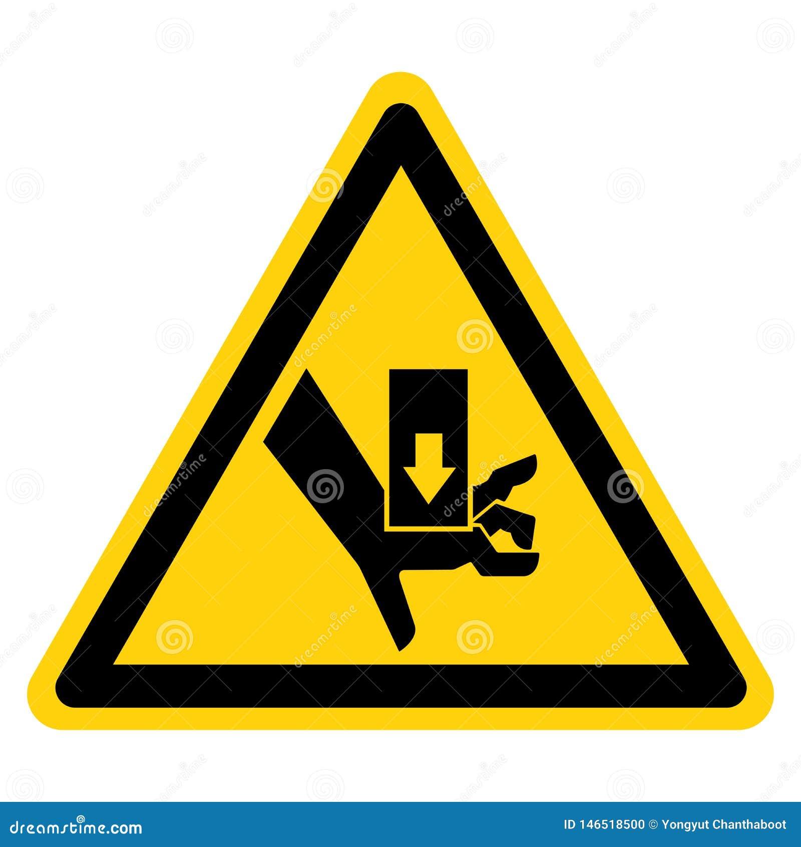手击碎力量从标志标志,传染媒介例证,在白色背景标签的孤立上 EPS10