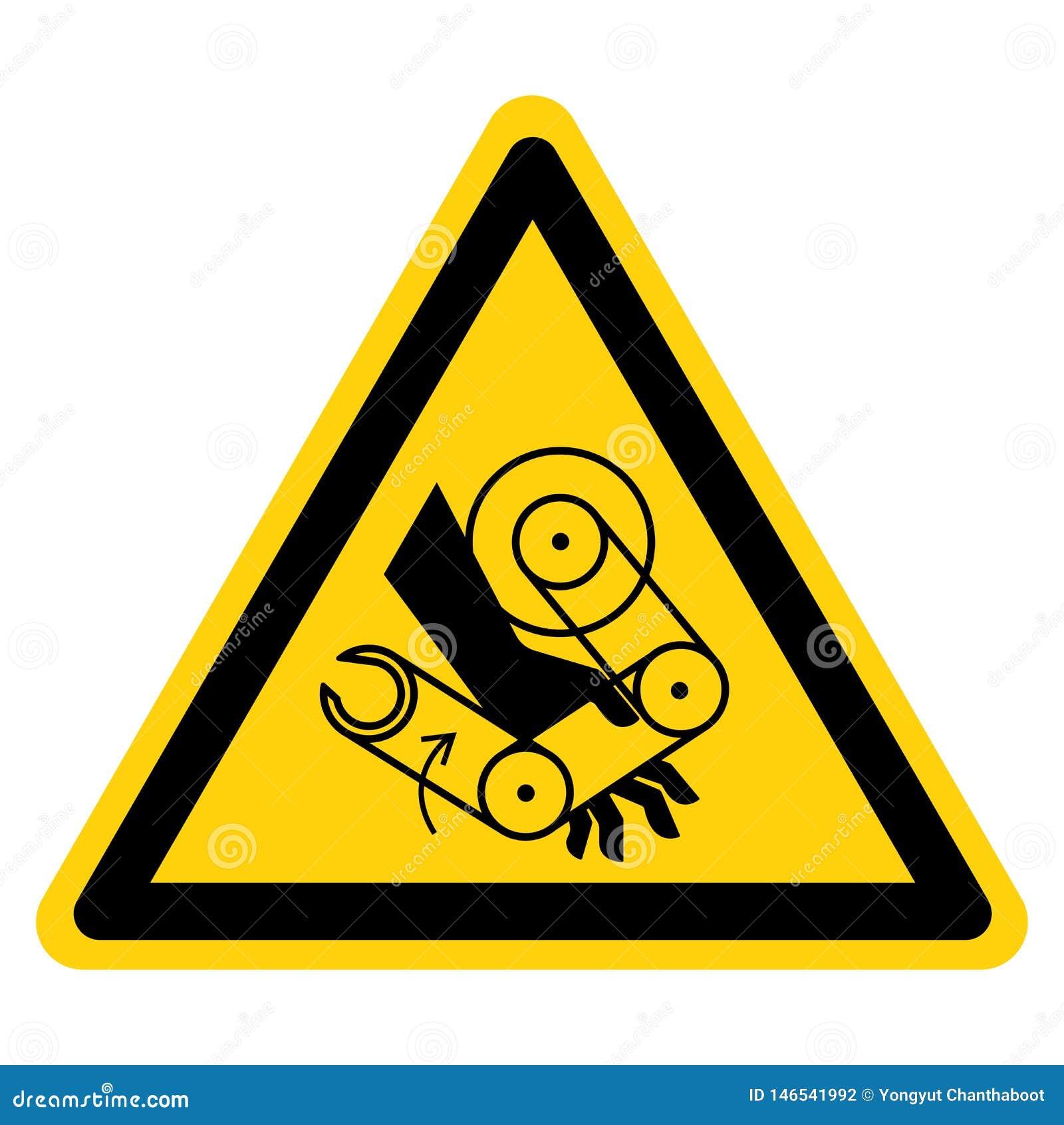 手击碎机器人标志标志,传染媒介例证,在白色背景标签的孤立 EPS10