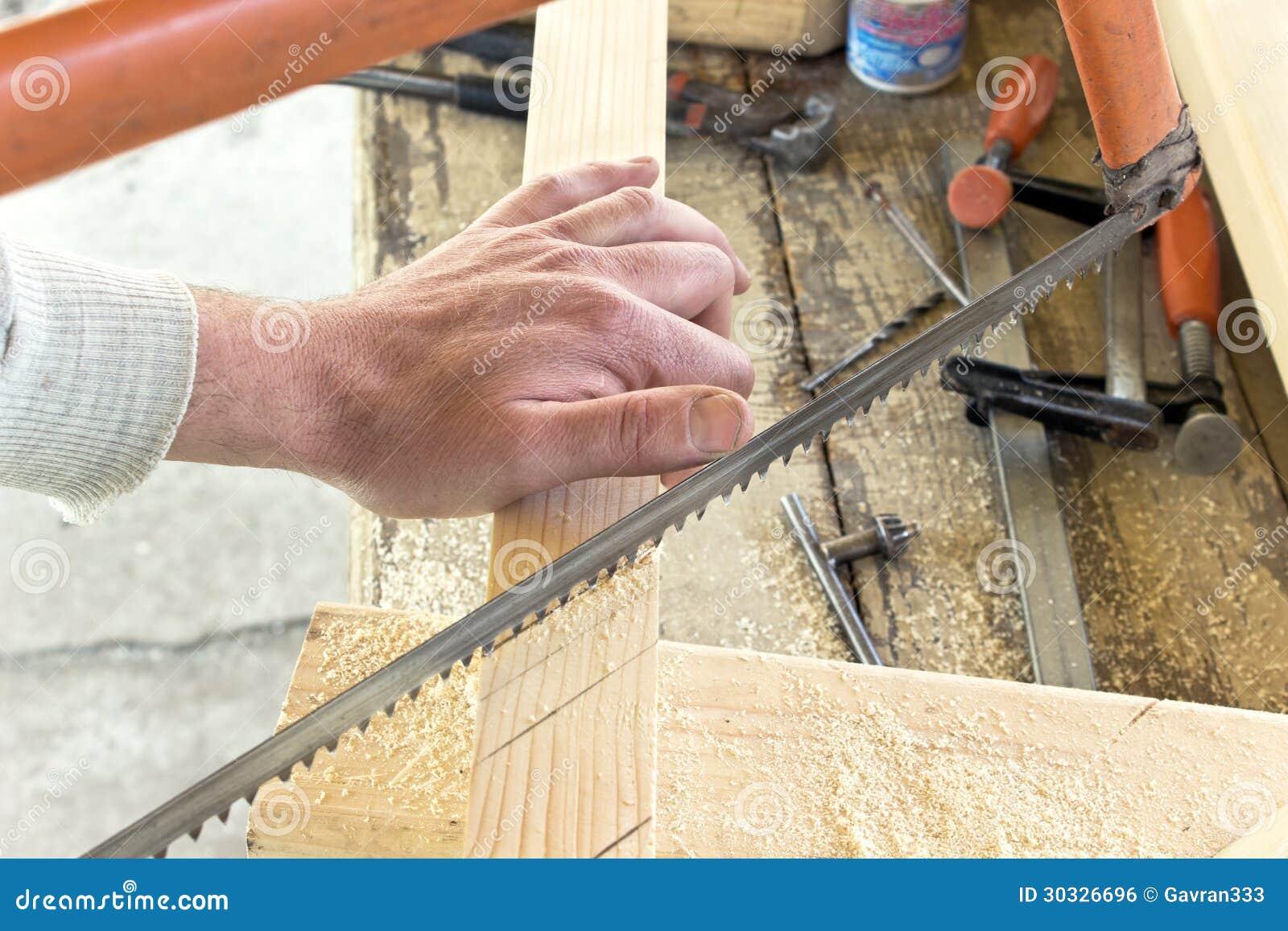 手切口木头特写镜头用手看见了