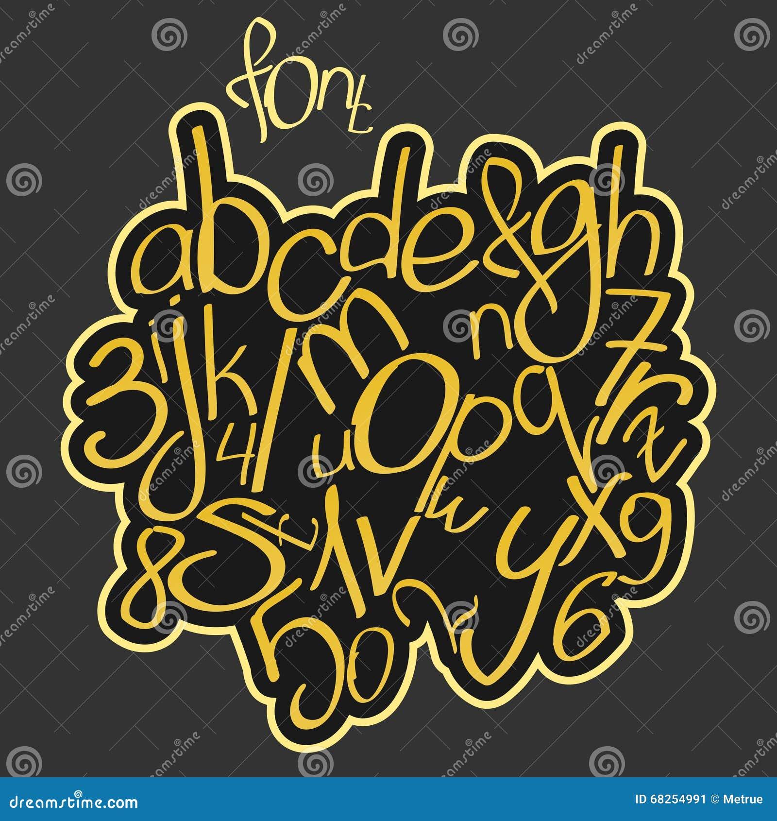 和数字隔绝的套 传染媒介,手写的字体类型设计 创造性的海报手拉排版.图片