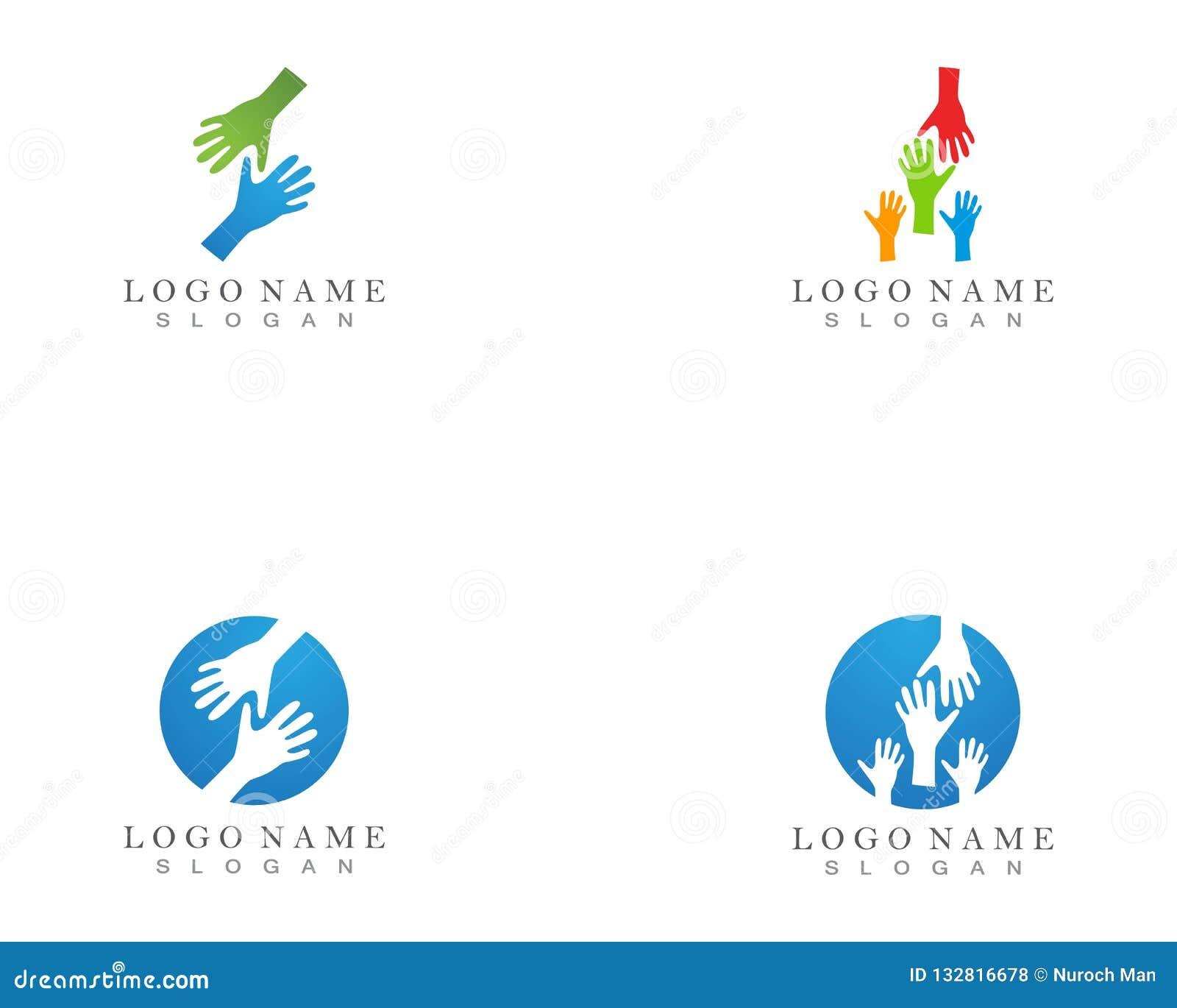手帮助商标和标志模板