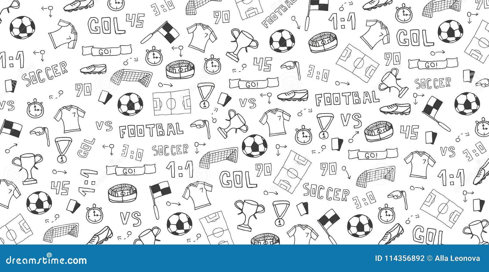 手拉的乱画足球或橄榄球背景 要素 也corel凹道例证向量
