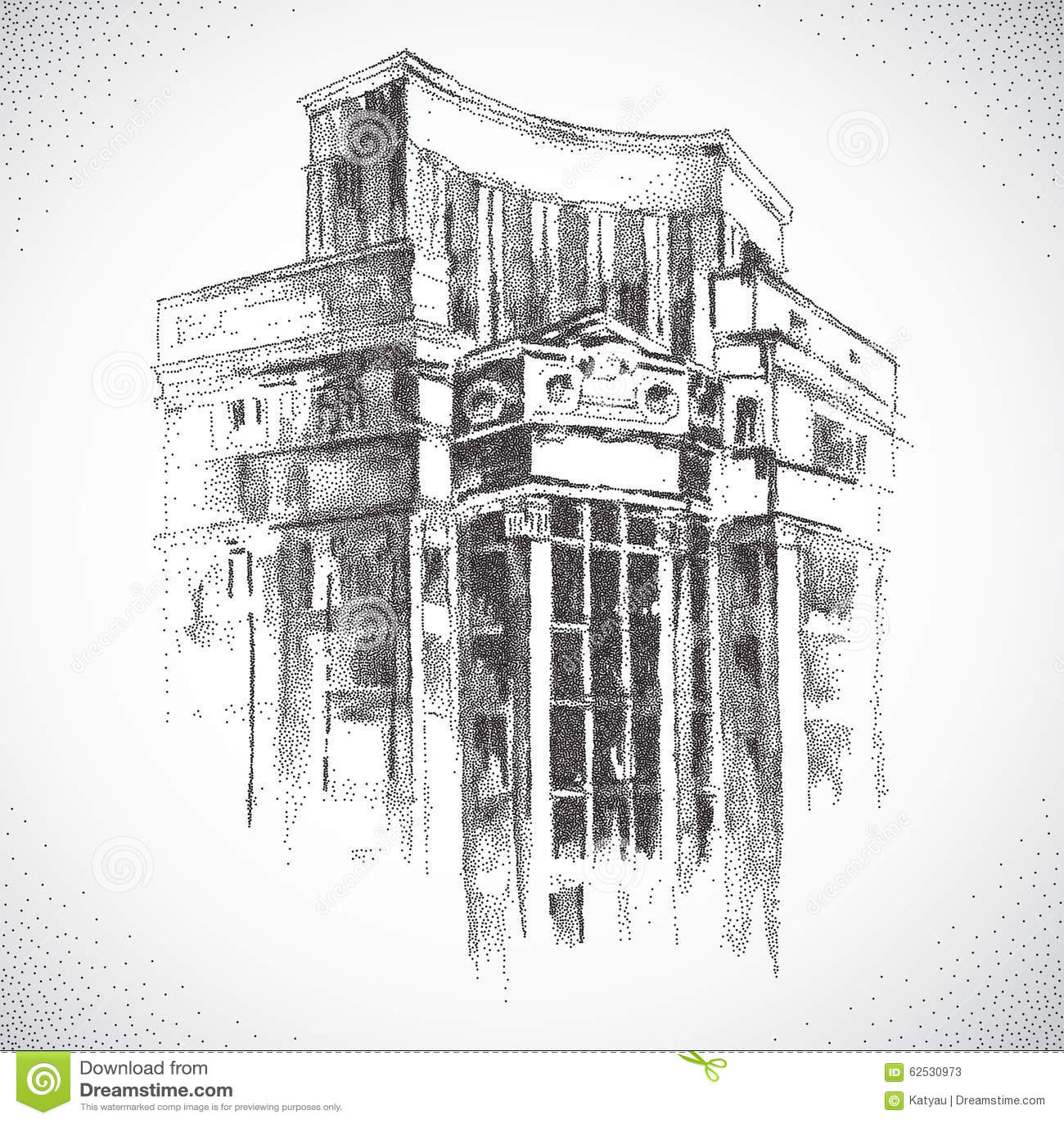 手拉的城市大厦