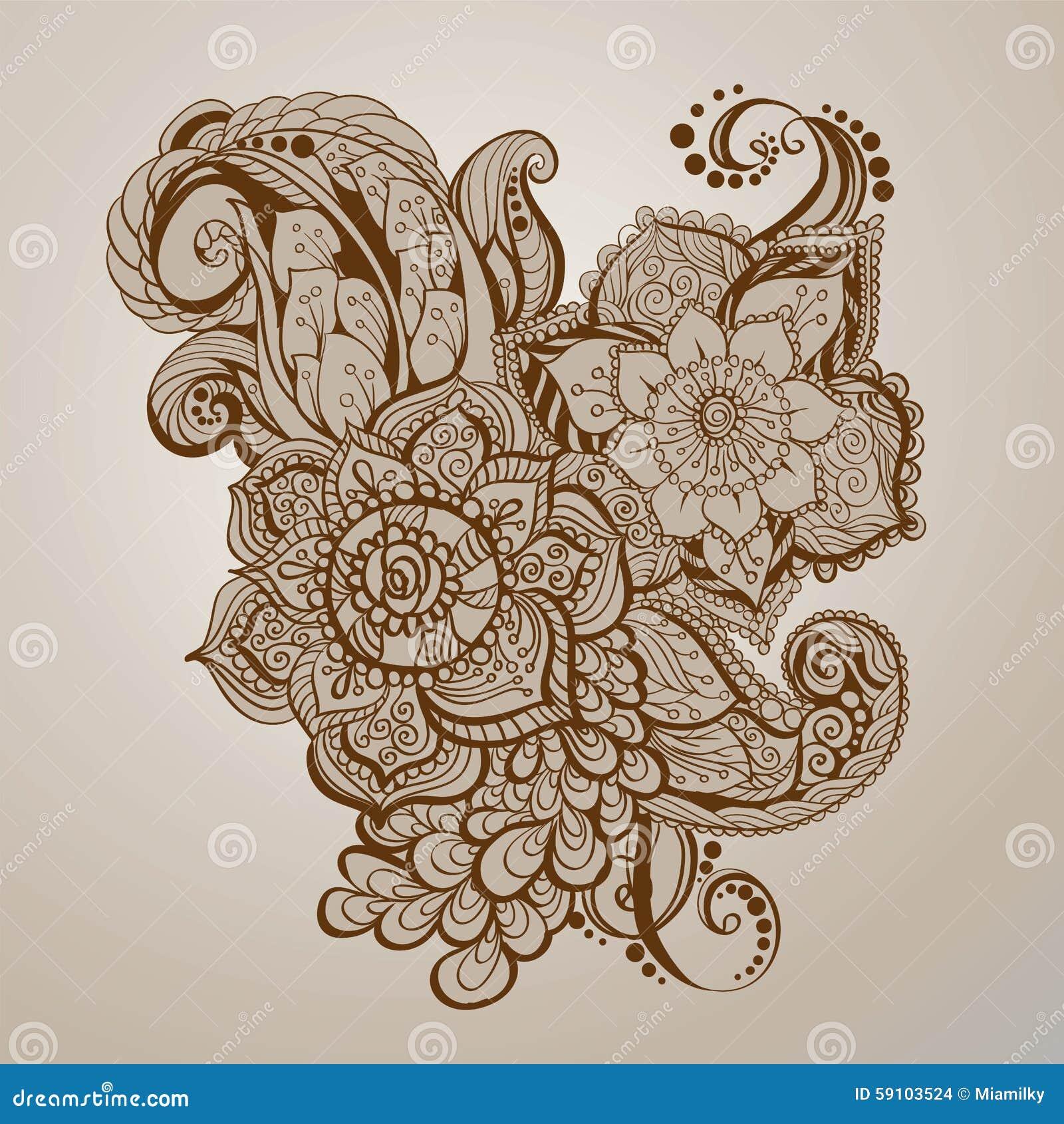 手拉的无刺指甲花纹身花刺艺术