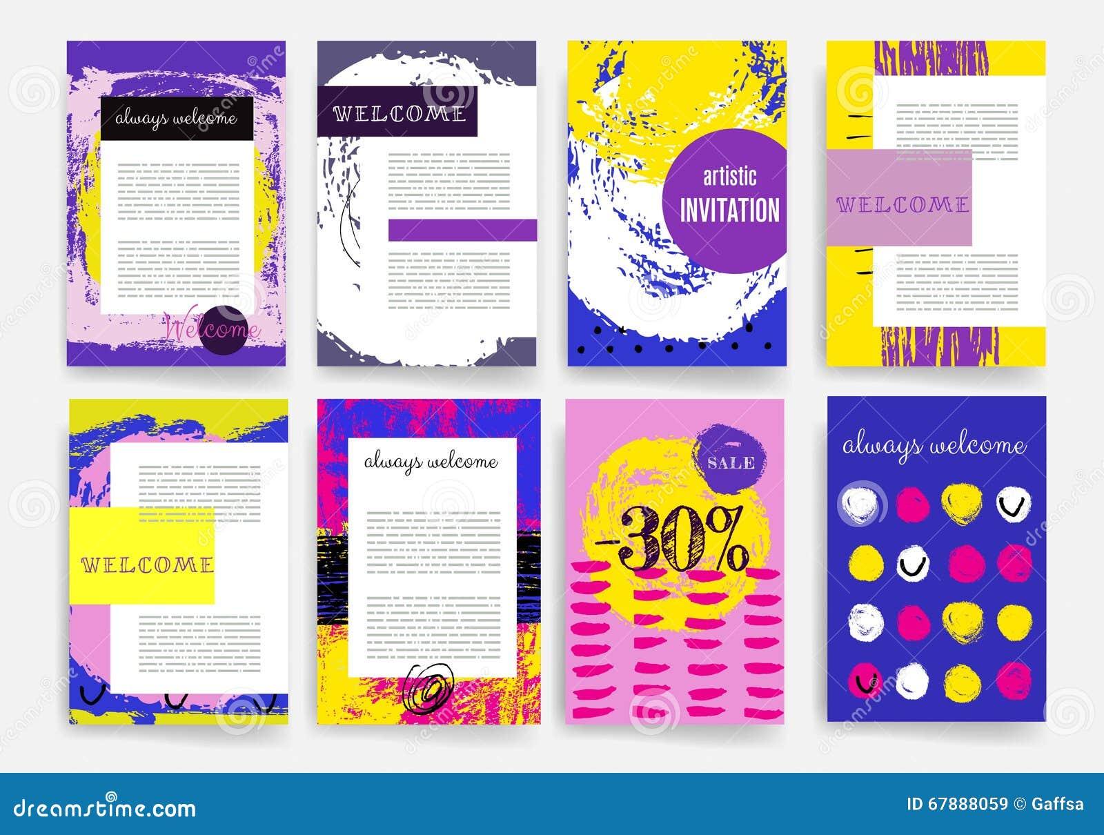 手拉的模板 设计套网,邮件,小册子 机动性,技术, Infographic概念