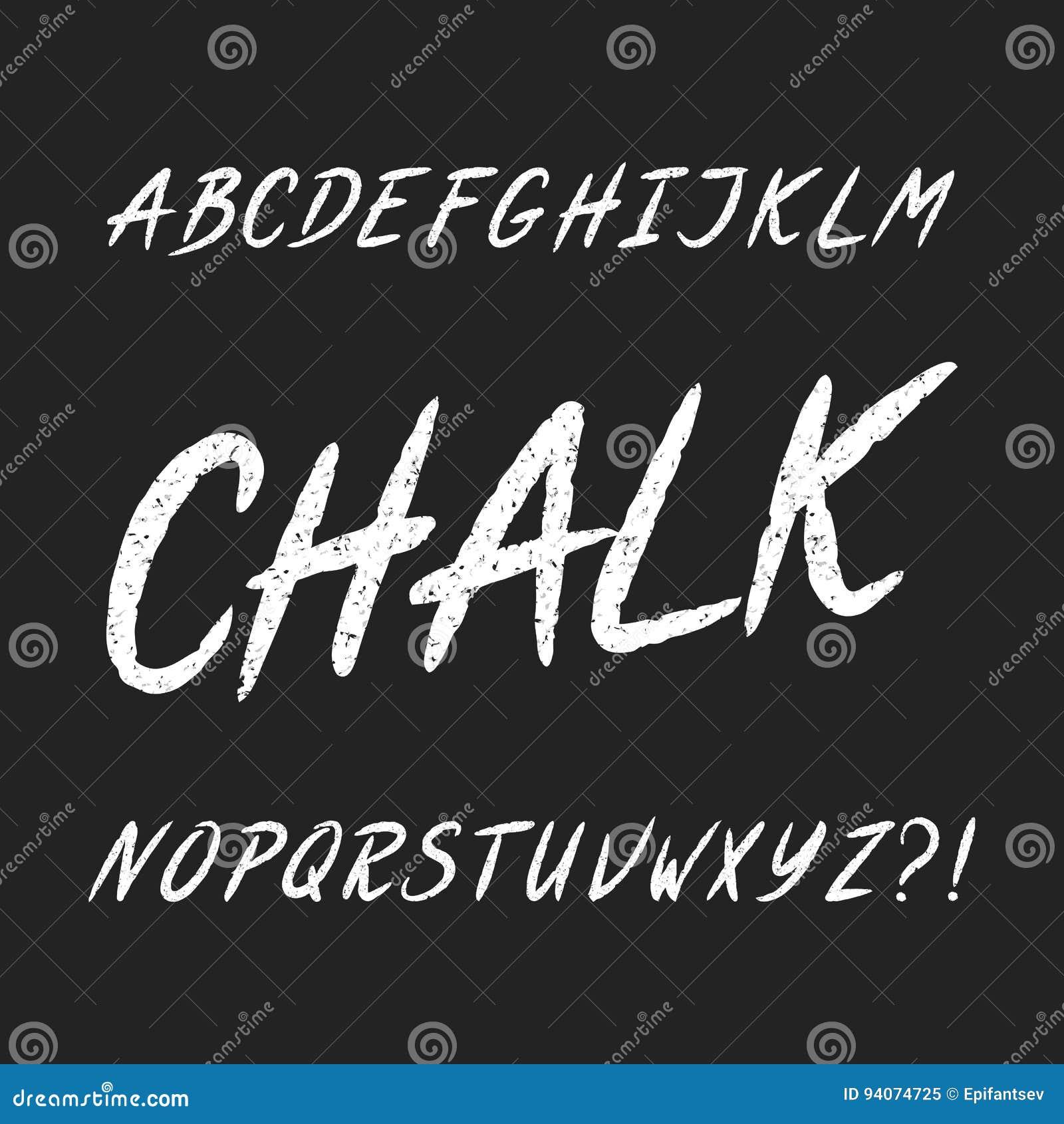 手拉的粉笔板字母表字体 大写字目