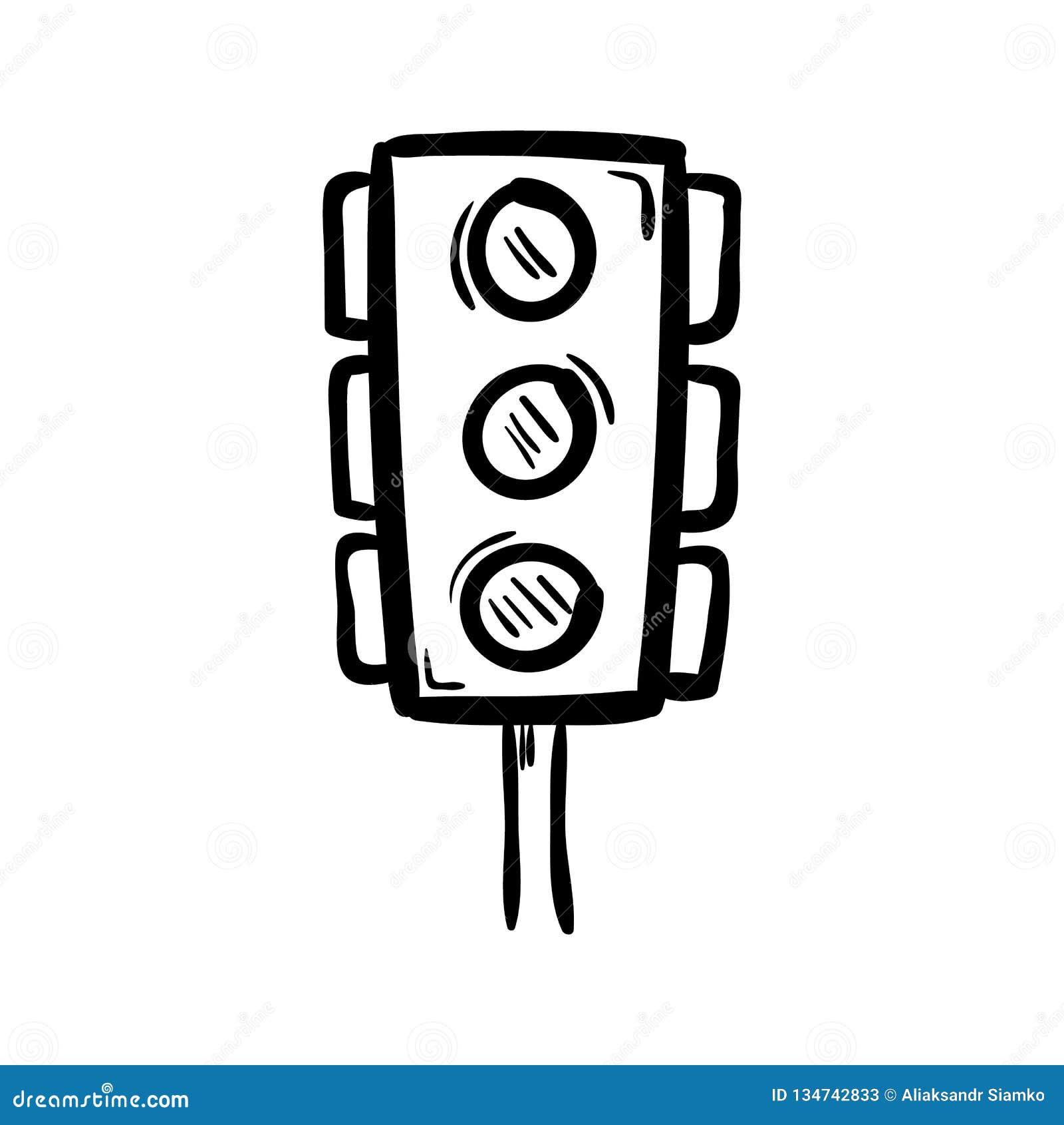 手拉的红灯乱画象 手拉的黑剪影 标志标志 装饰元素 奶油被装载的饼干 查出 平面