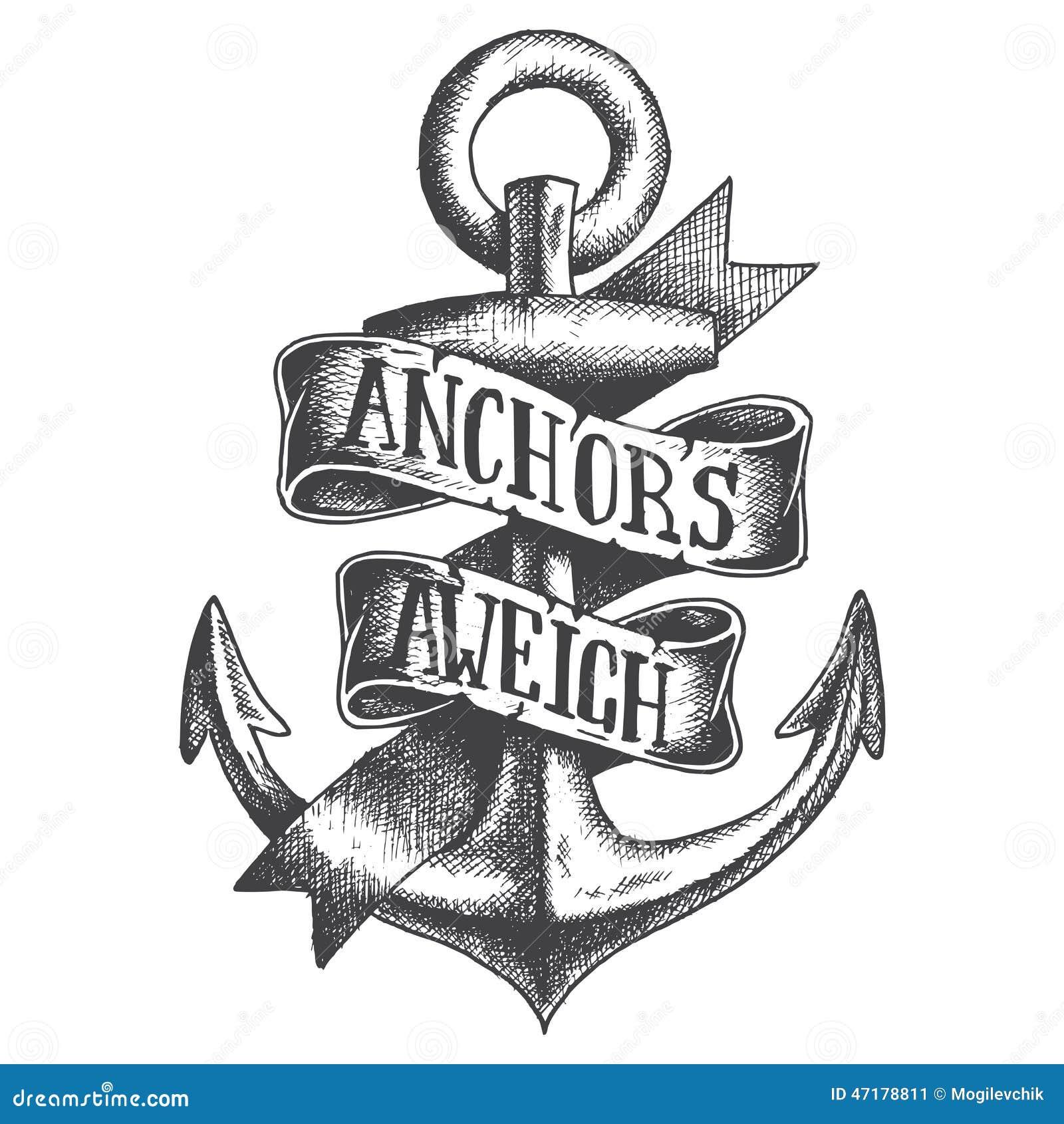 手拉的船锚